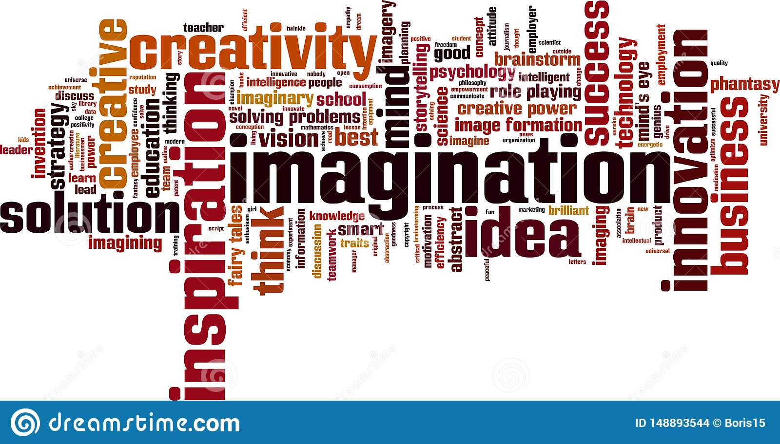 Imagination word cloud stock vector  Illustration of concept