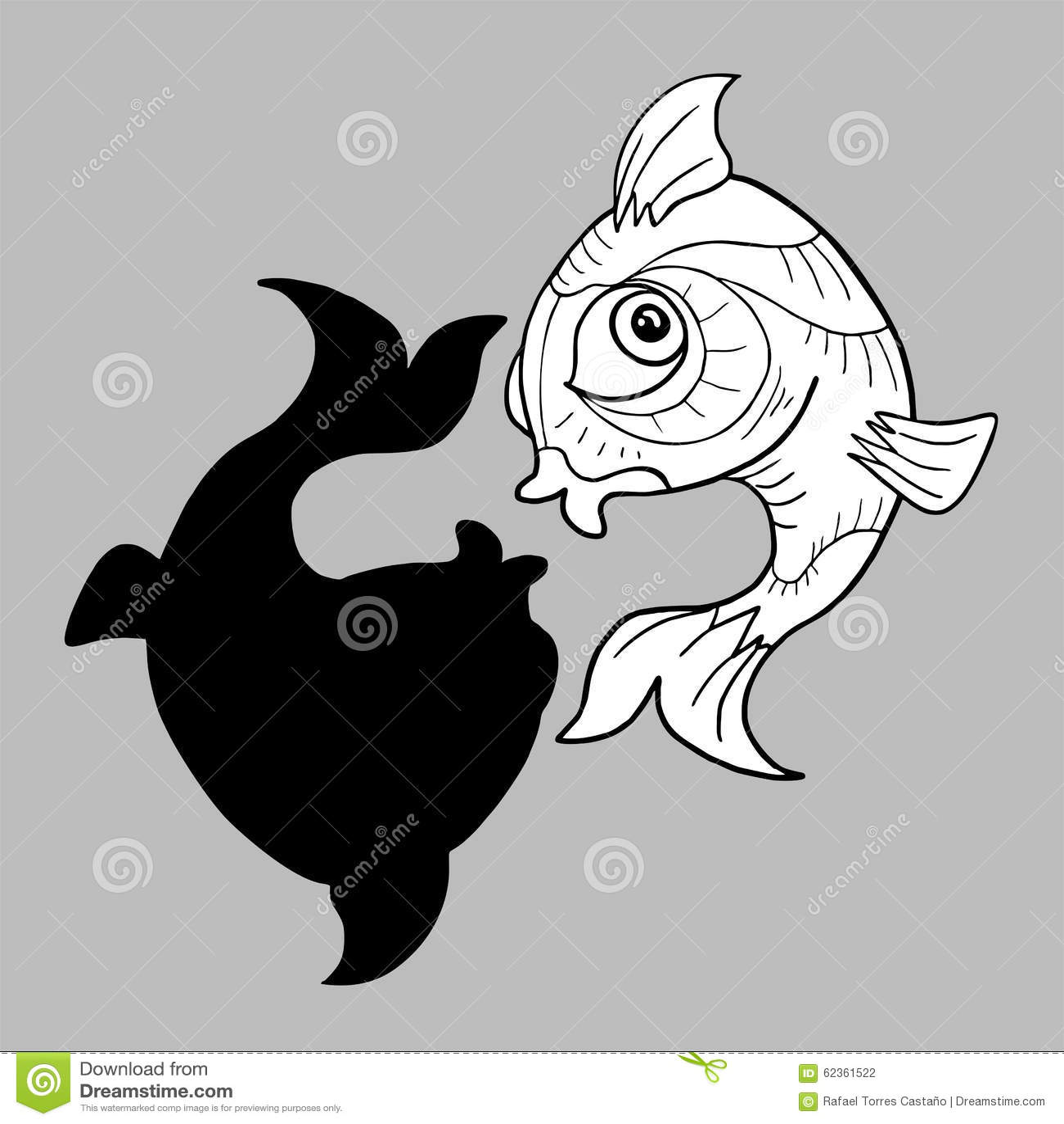 Imaginative Pisces Symbol Stock Vector Illustration Of