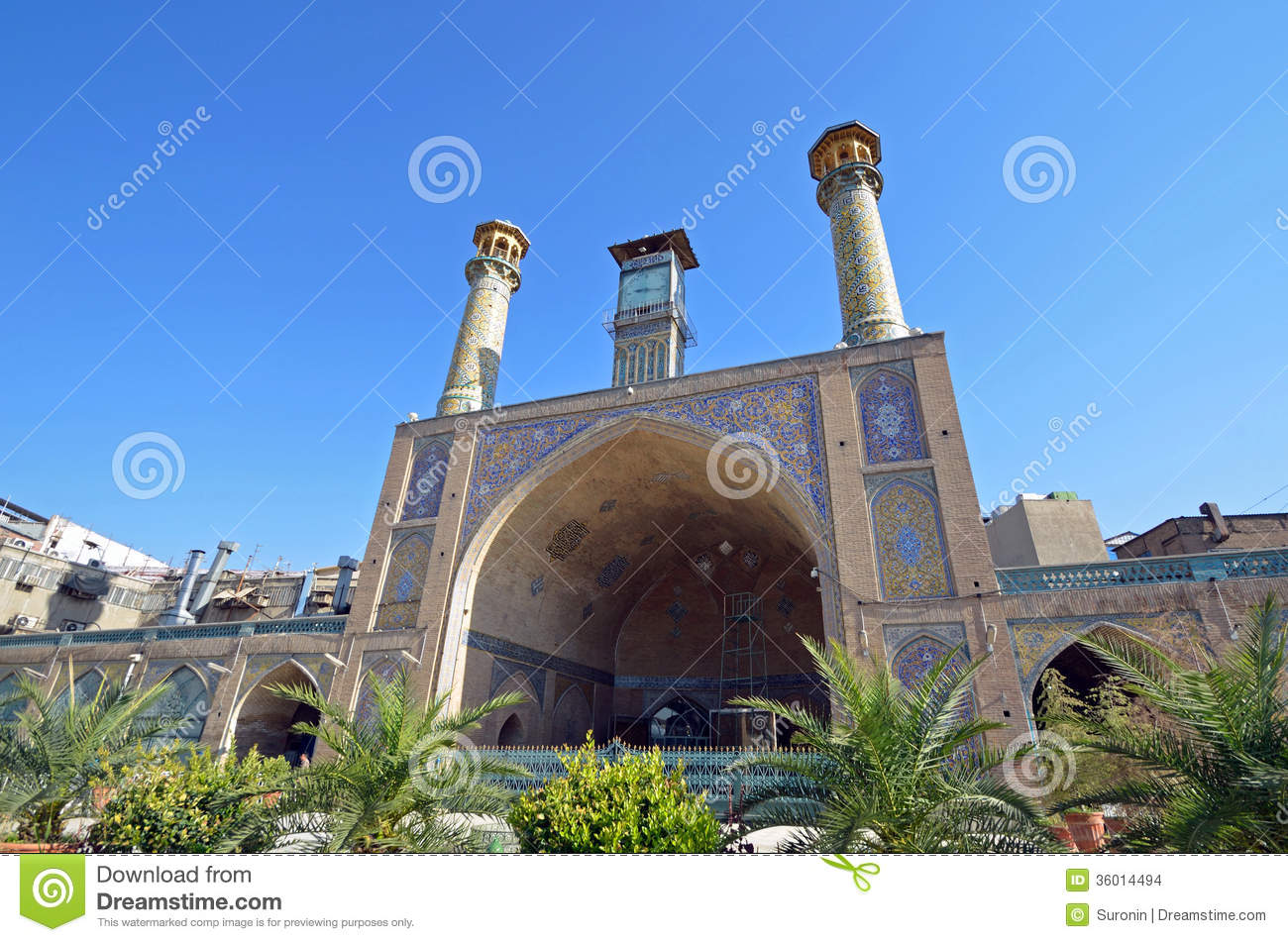 Non Muslim Perspective On The Revolution Of Imam Hussain: Imam Khomeini Mosque Stock Images