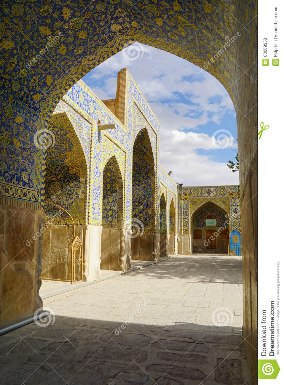 Download Imam Mosque à Isphahan, Iran Image stock - Image du ornements, fond: 63089353