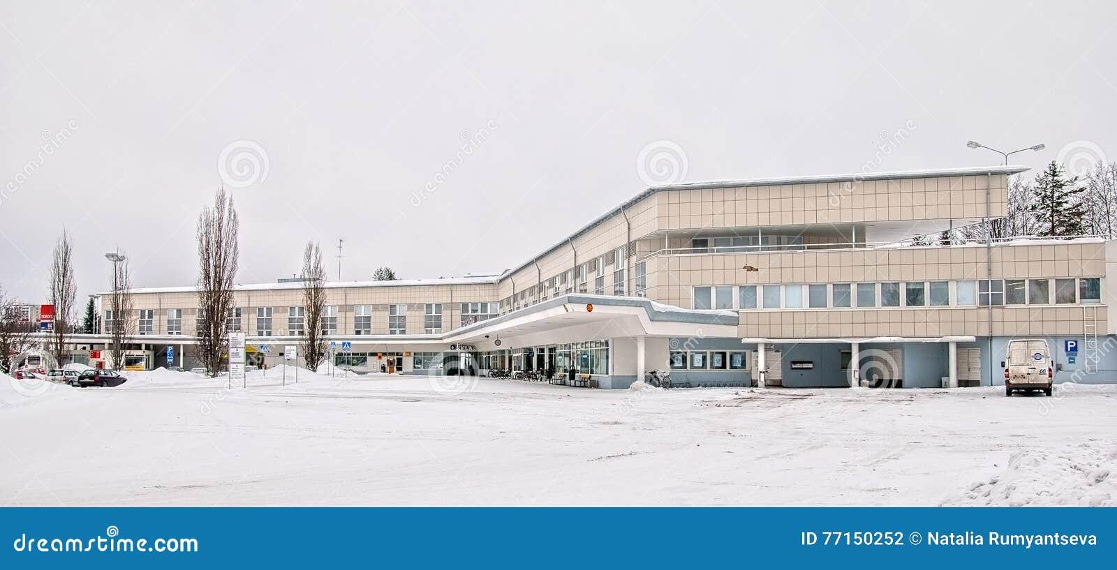 Imatra, Finlande Bâtiment d autobus et de gare ferroviaire