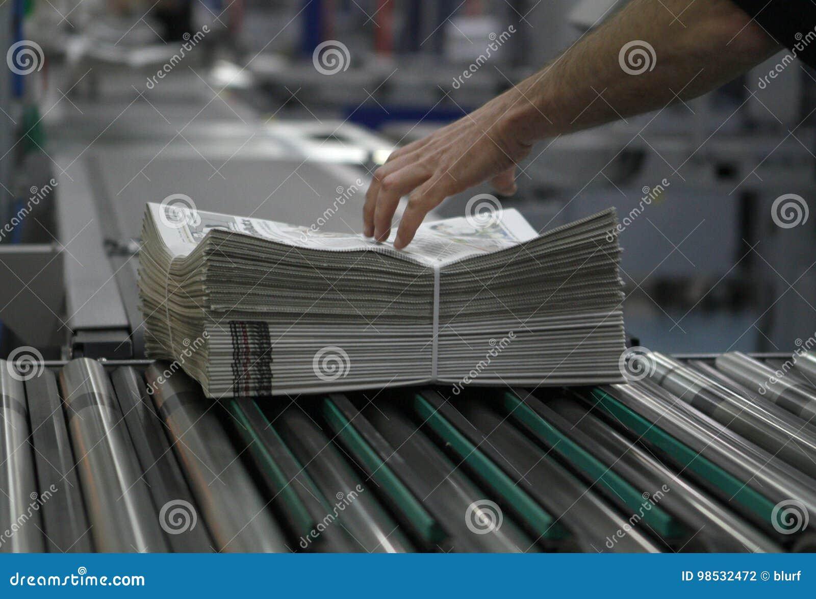 Imballaggio e distribuzione del giornale