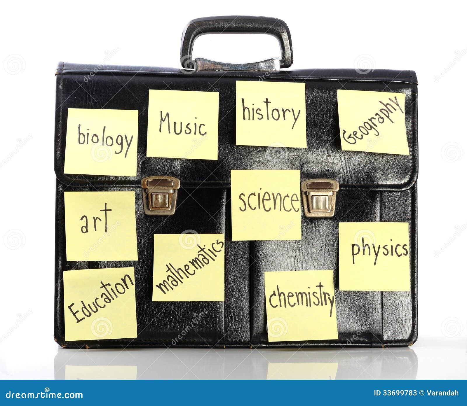 Imię szkolnych tematów kij na schoolbag