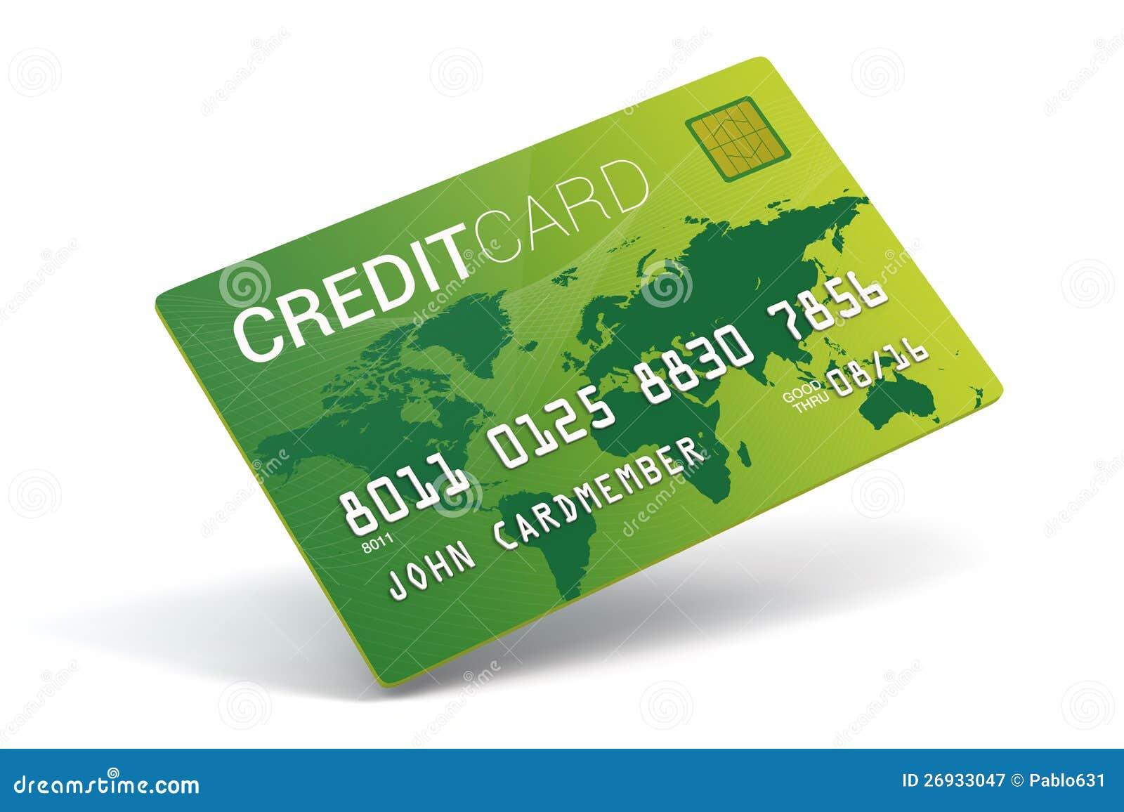 Imitación de la tarjeta de crédito