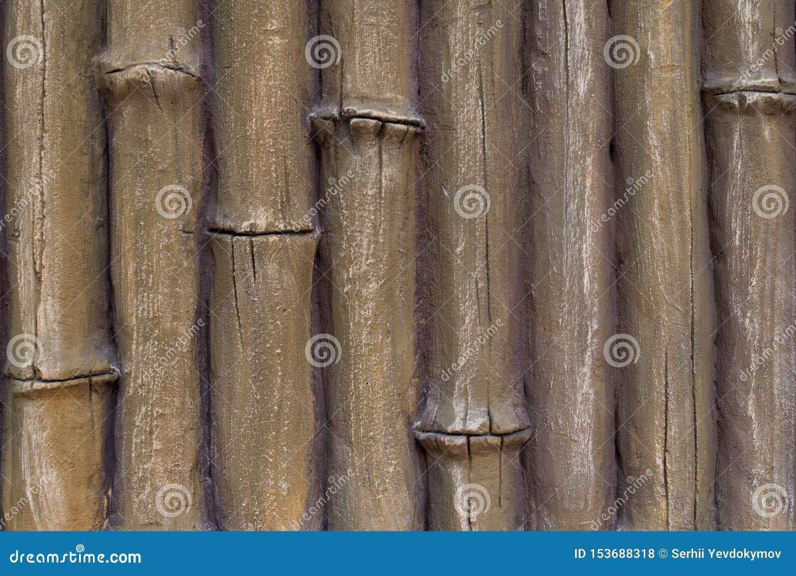 Imitazione del gesso dello stucco dei tronchi di bambù sottragga la priorit? bassa