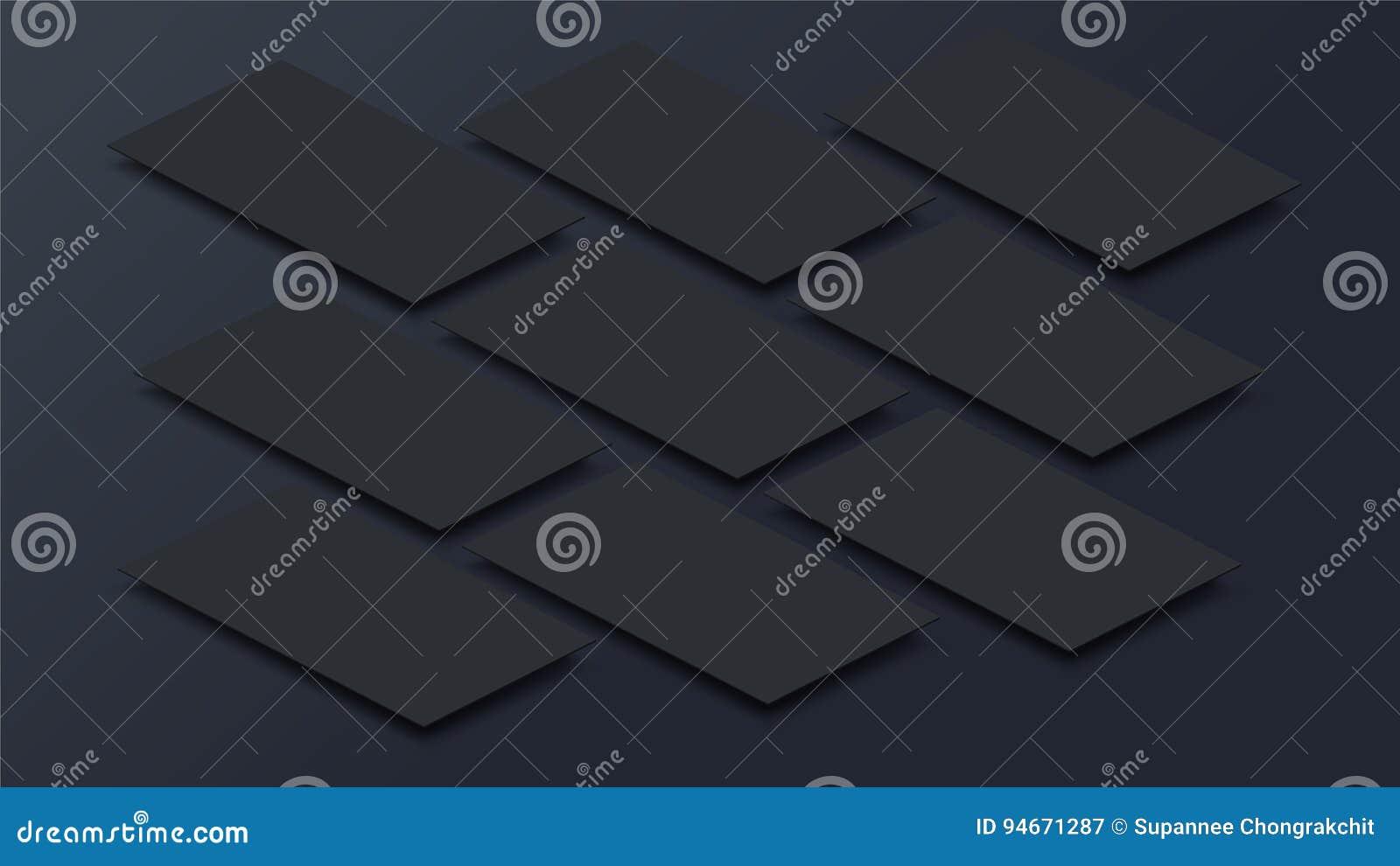 Imite encima de interfaz móvil del app en la opinión de perspectiva 3D Pantalla en blanco del app Relación de aspecto horizontal