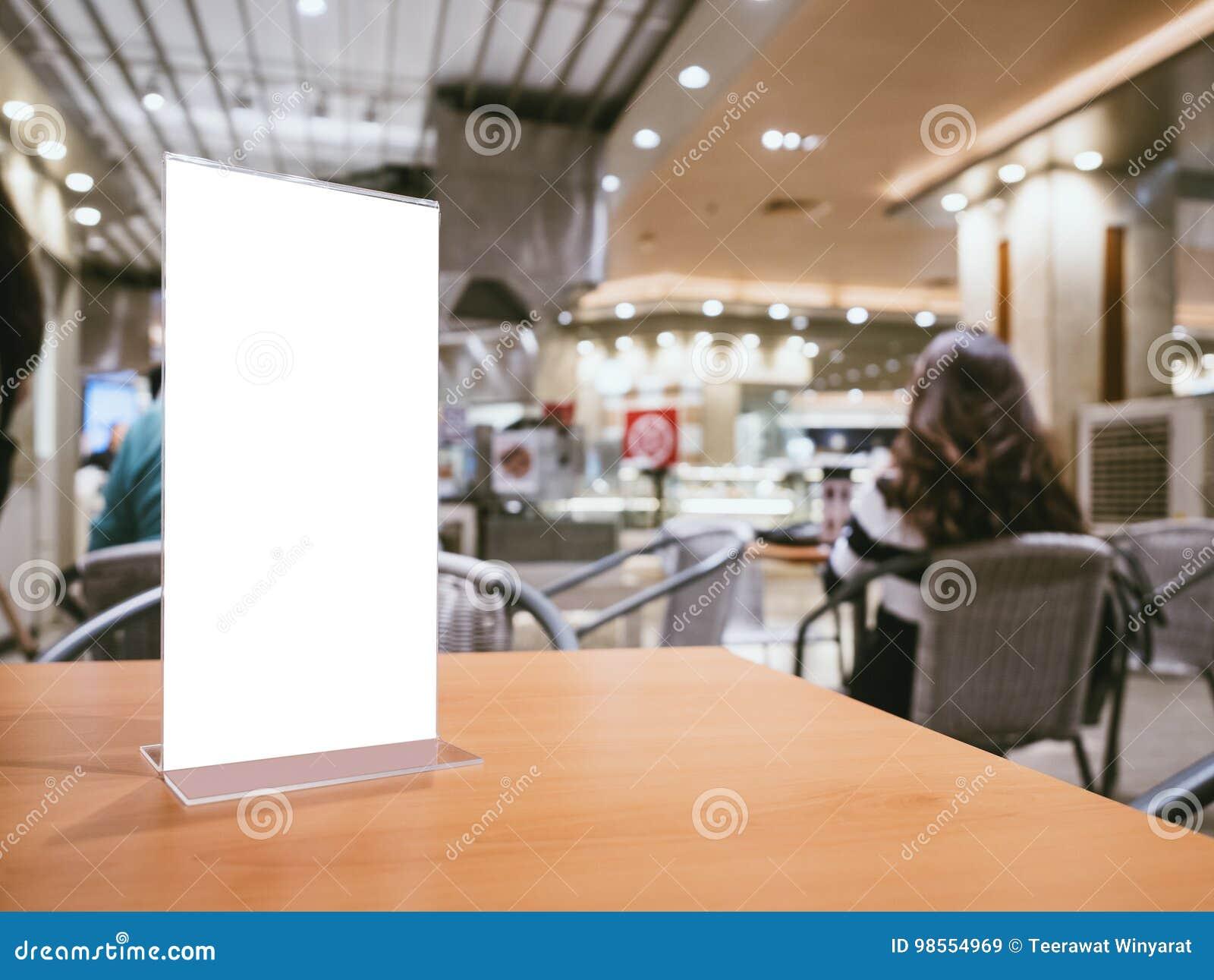 Imite Encima De Marco Del Menú En Fondo Del Café Del Restaurante De ...