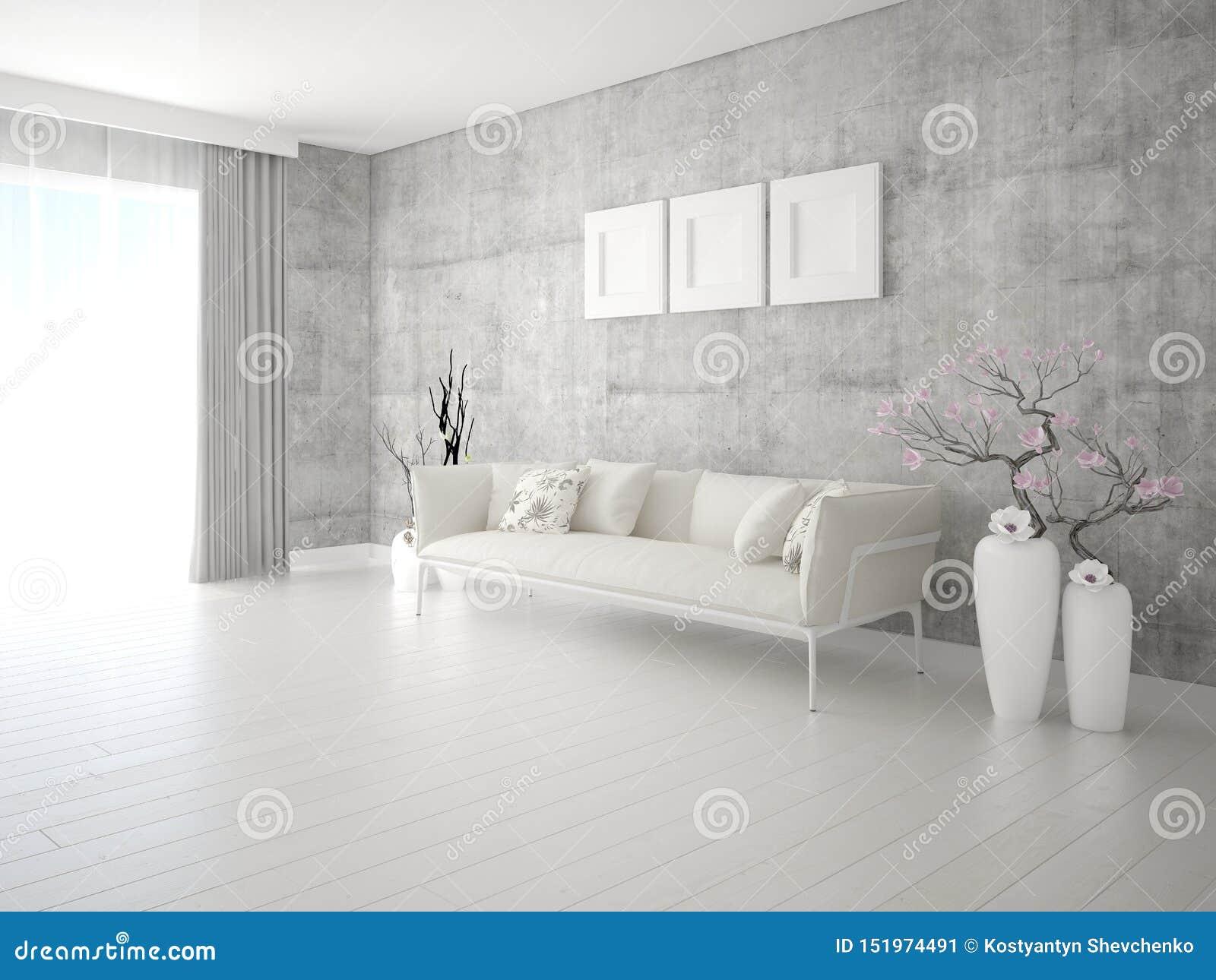 Imite encima de sala de estar de moda con un sofá ligero elegante
