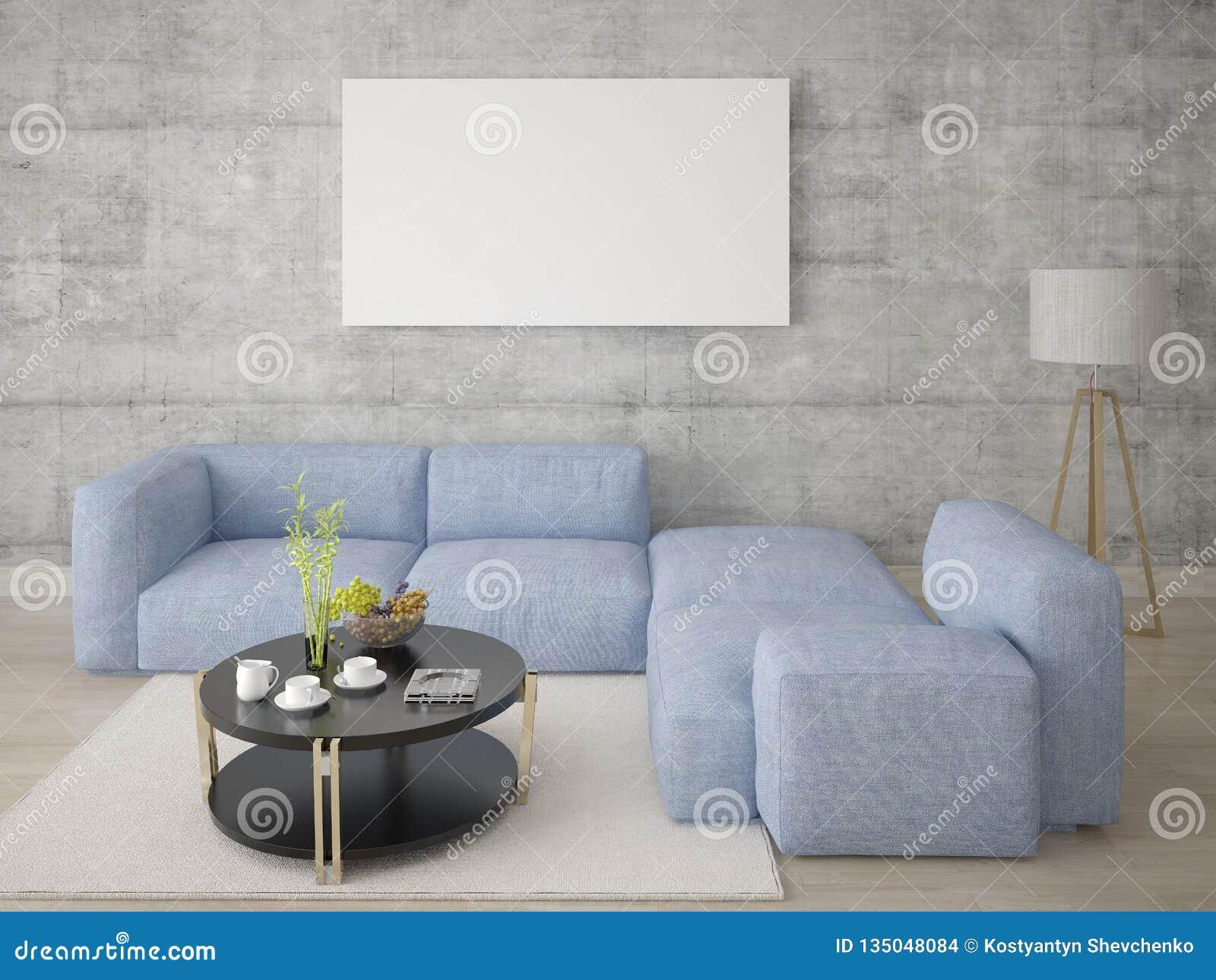 Imite encima de una sala de estar espaciosa con un sofá de la esquina cómodo