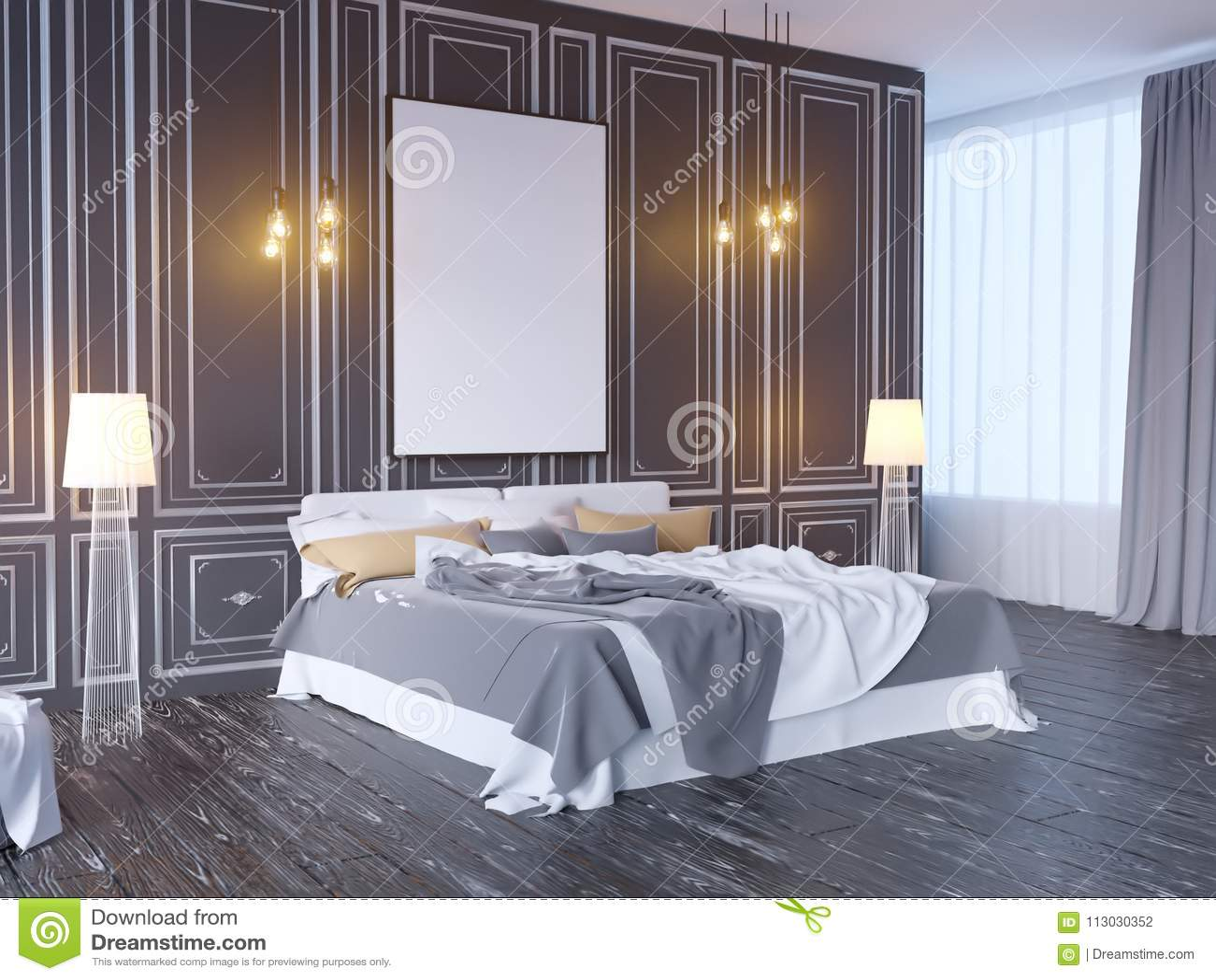 Imite encima del cartel con el fondo interior del inconformista del vintage del desván en colores pastel del minimalismo, 3D repr