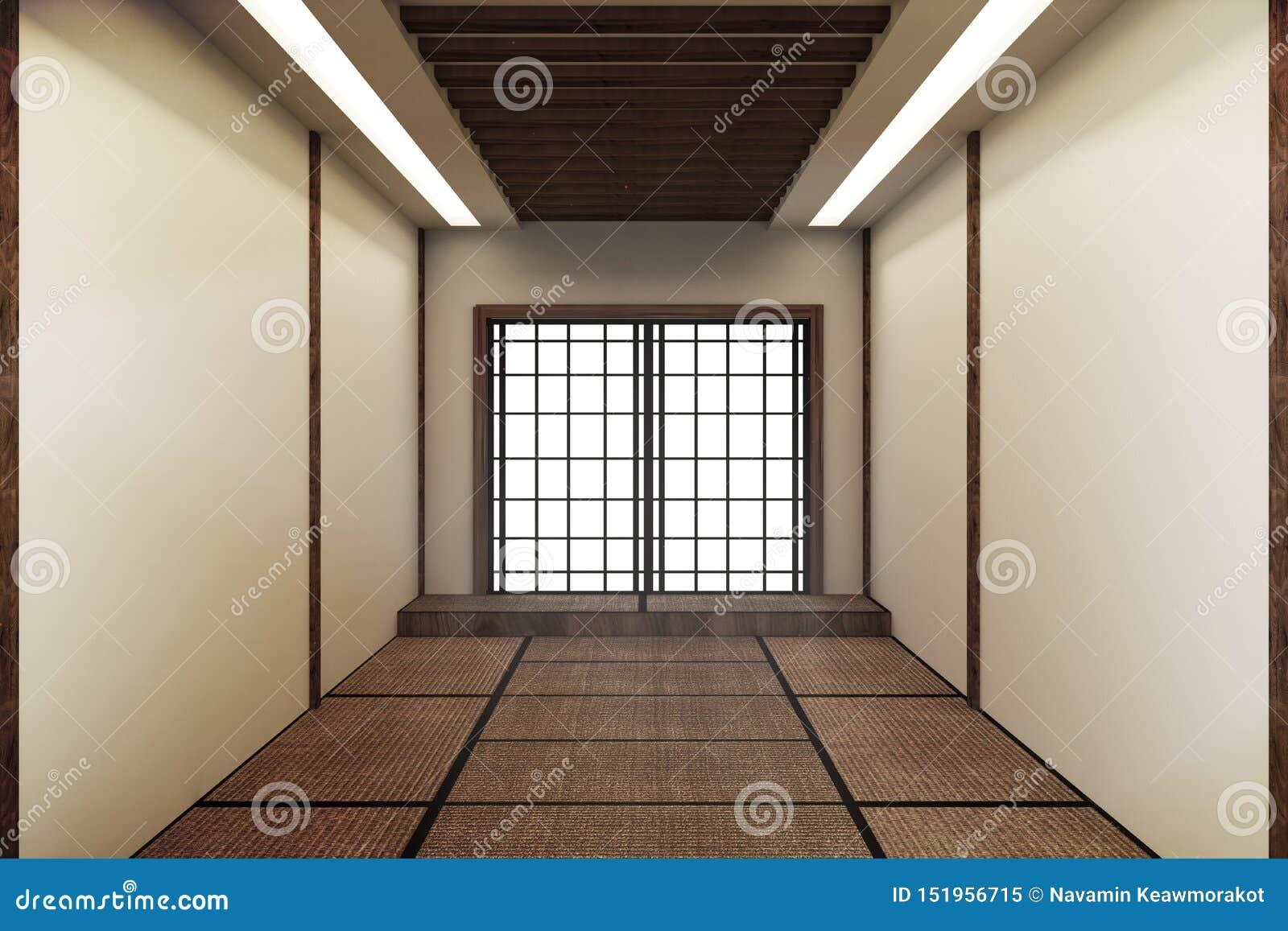 Imite para arriba, estera de tatami vacía japonesa del sitio que diseña el más hermoso representaci?n 3d