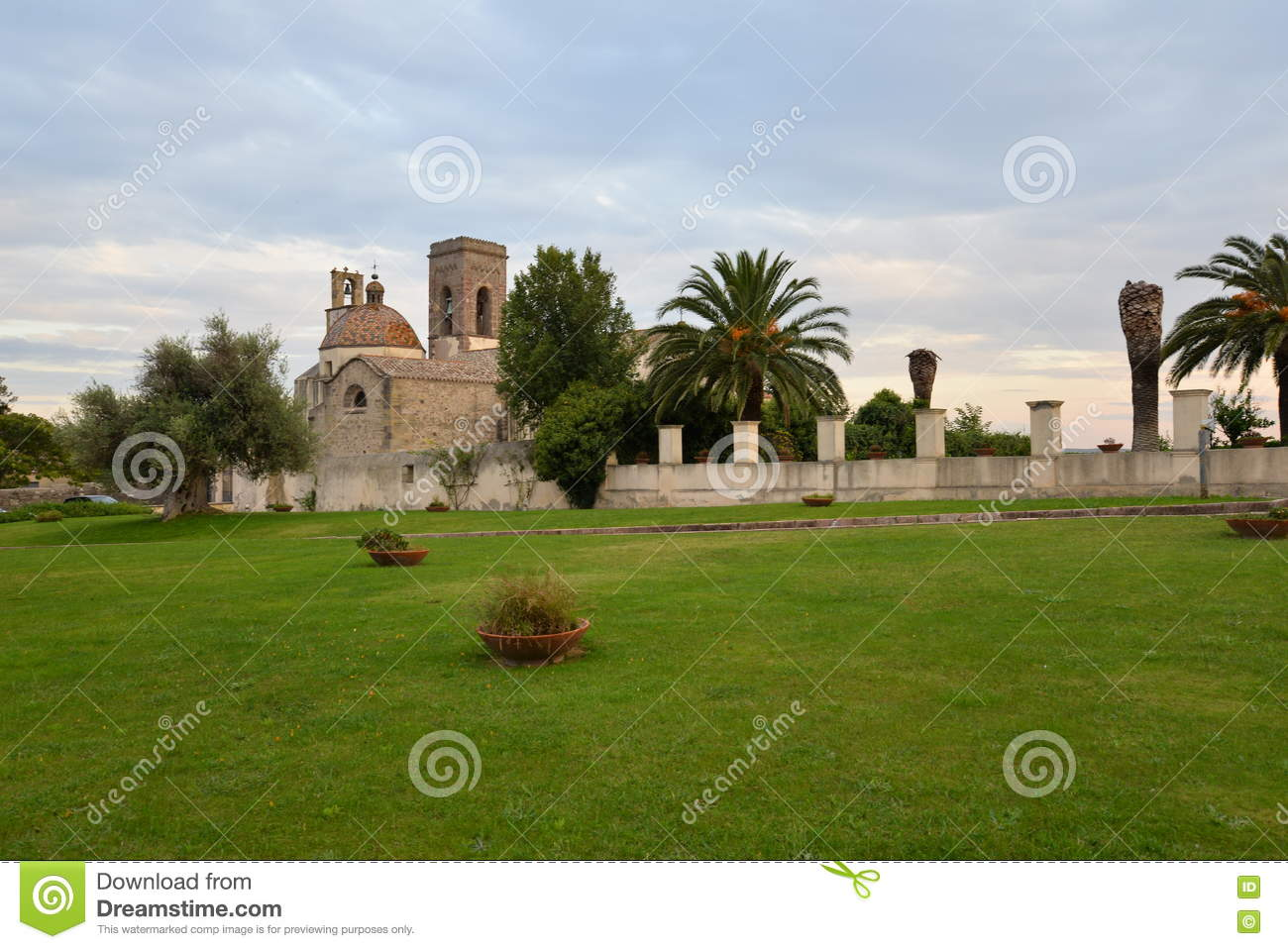 Immacolata church in Barumini, Sardinia, Italy