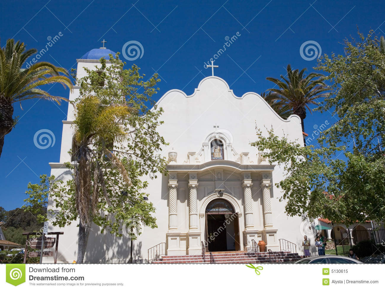 Immaculate Conception Church San Diego Stock Image - Image