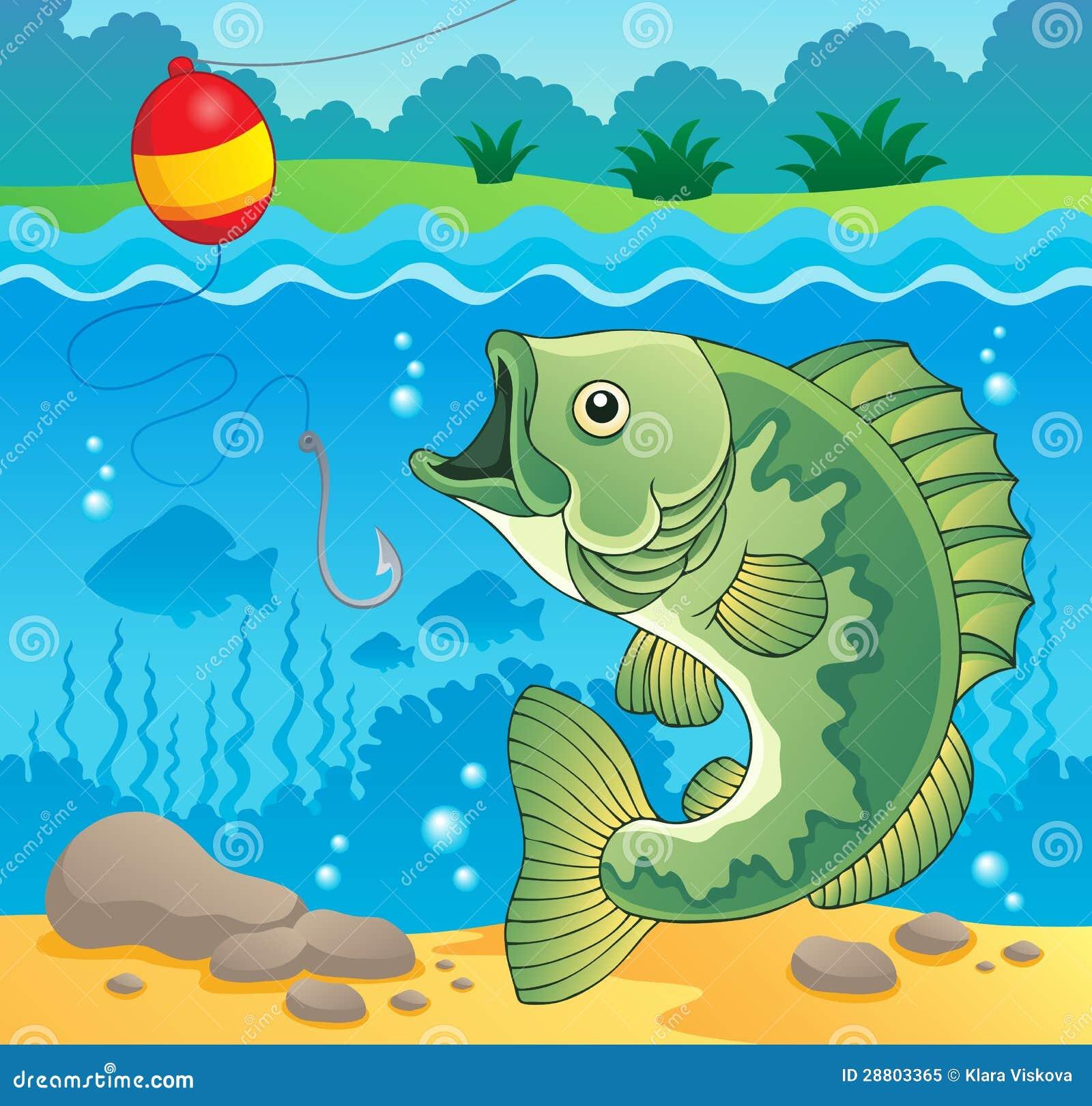 Immagine 4 di tema dei pesci d 39 acqua dolce illustrazione for Pesci acqua dolce