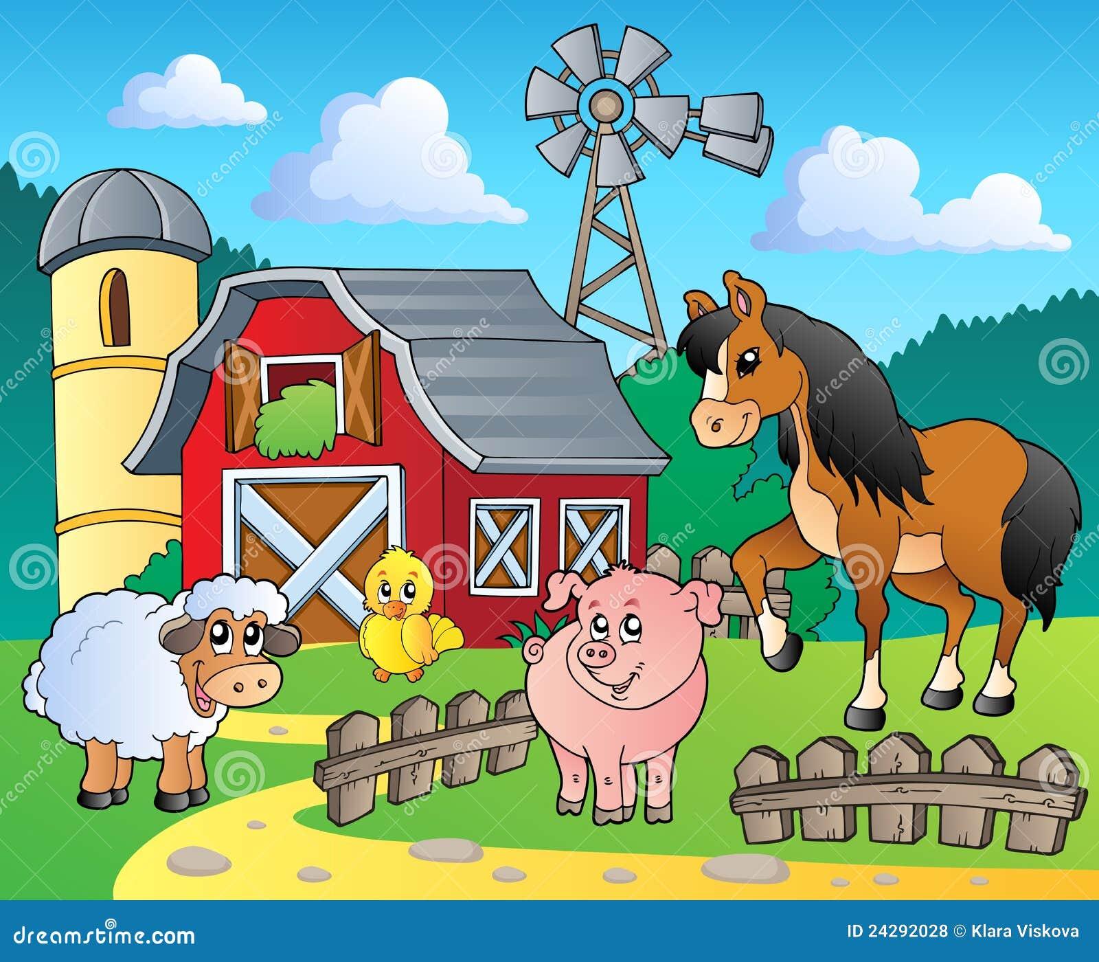Immagine 4 di tema dell 39 azienda agricola illustrazione for Fattoria immagini da colorare