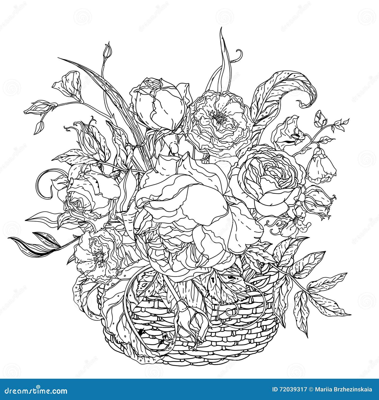 Immagine Antistress Di Stile Del Libro Da Colorare Di Natura Morta