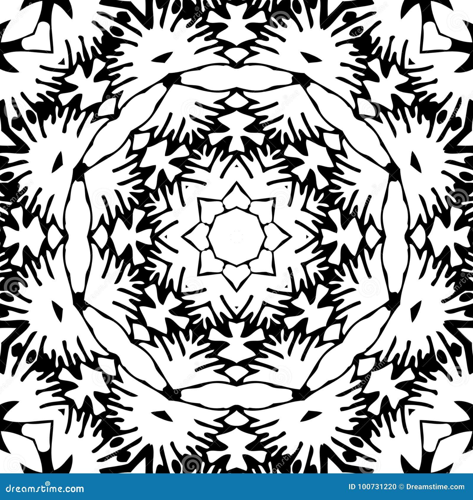 Immagine astratta in bianco e nero del modello