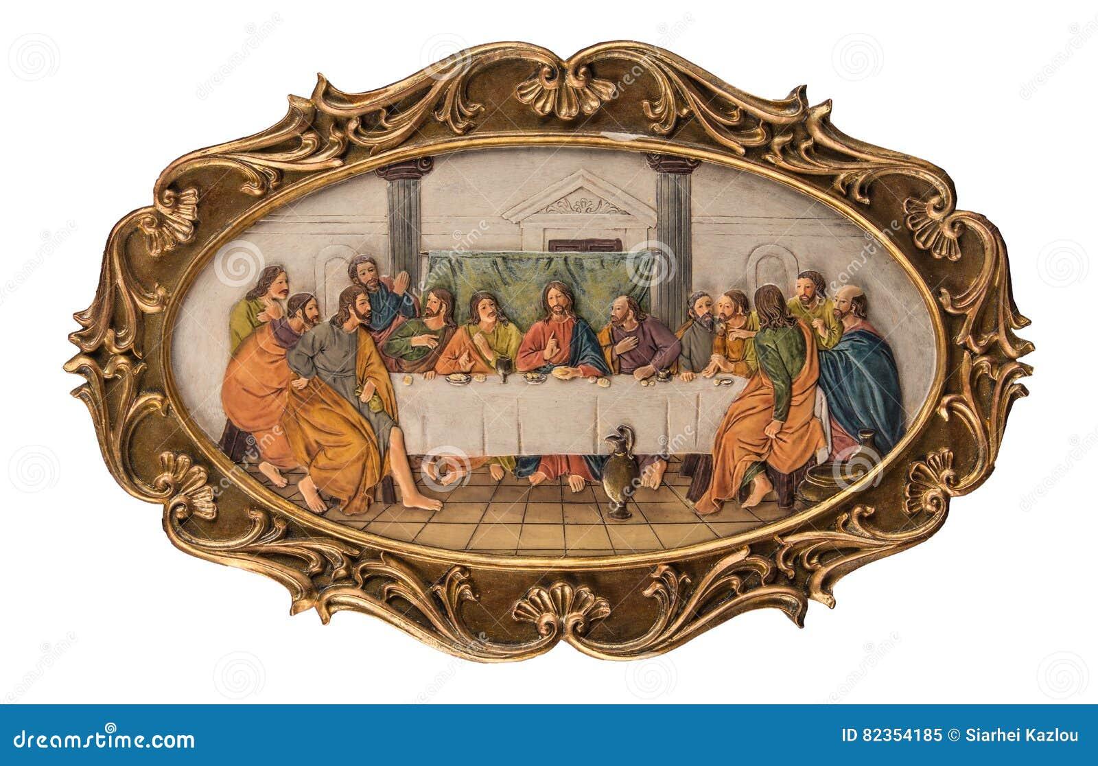 Immagine a colori del gesso di ultima cena immagine stock - Immagine di terra a colori ...