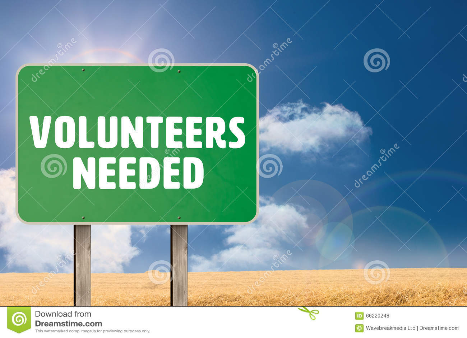 Immagine composita dei volontari stati necessari
