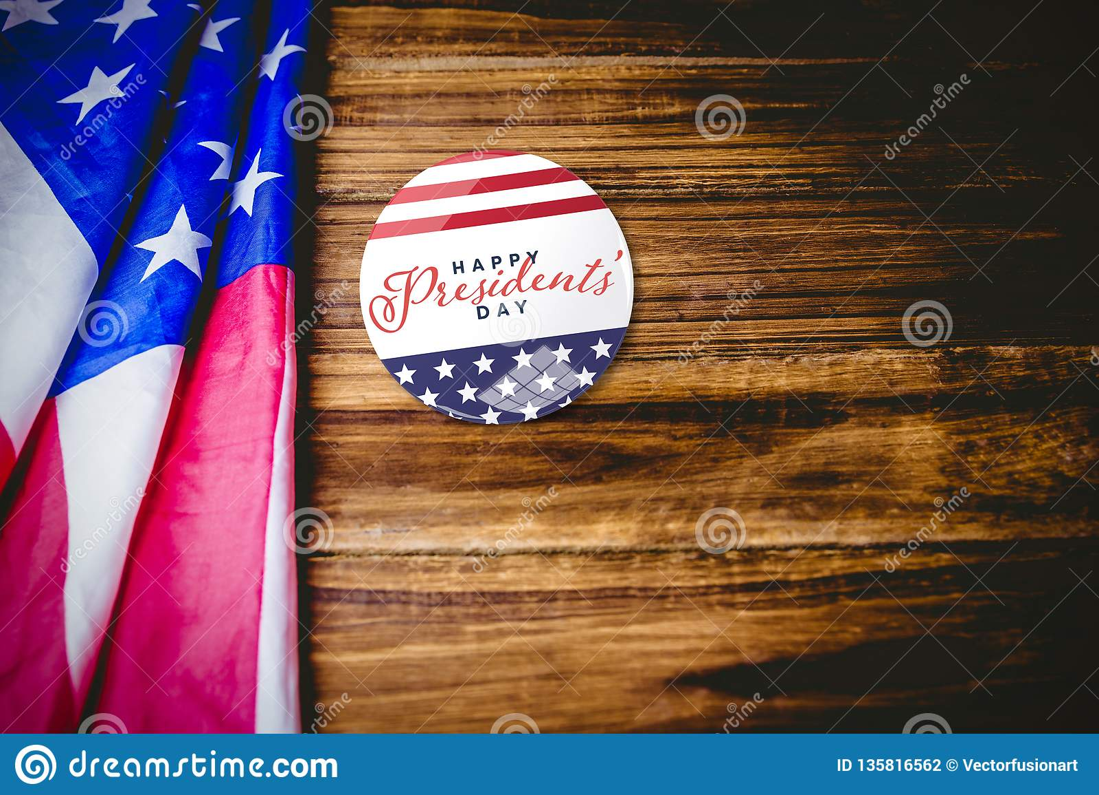 Immagine composita del giorno felice di presidenti tipografia