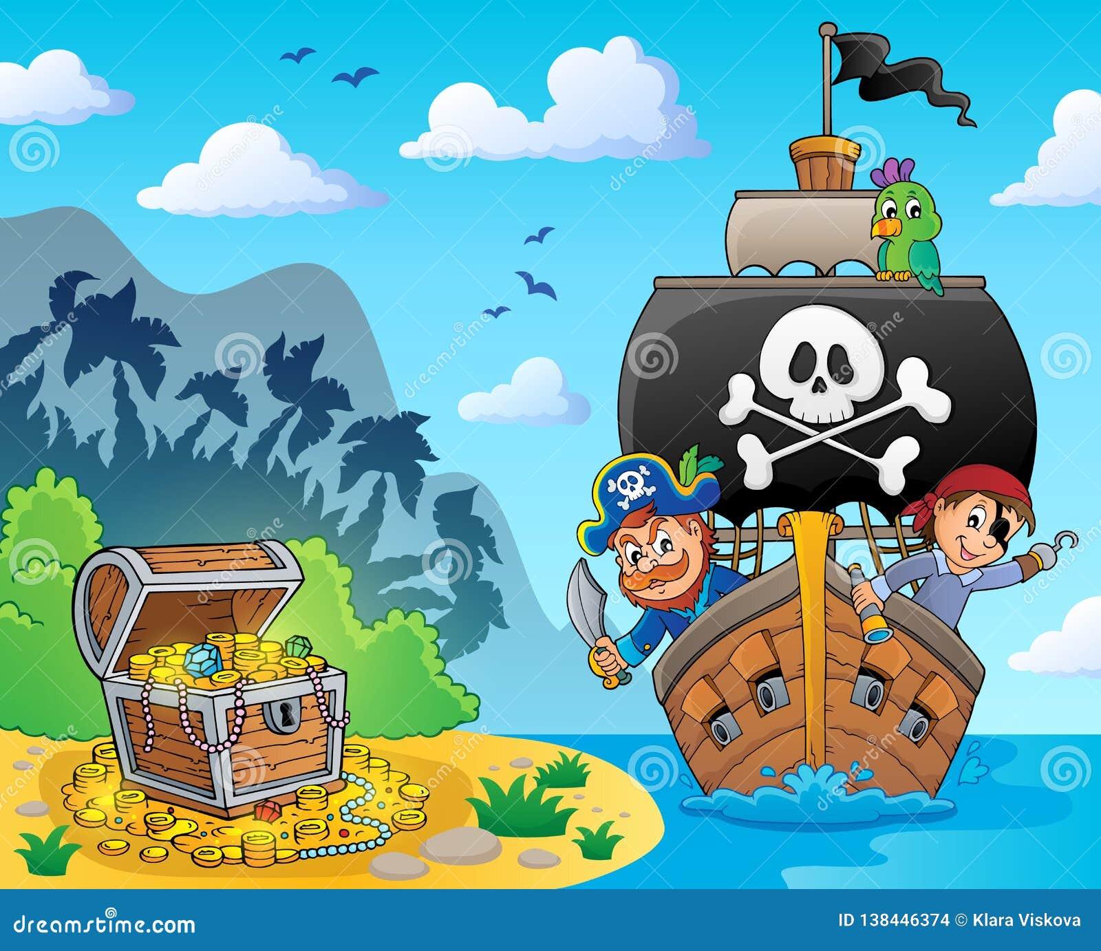 Immagine con il tema 6 della nave del pirata