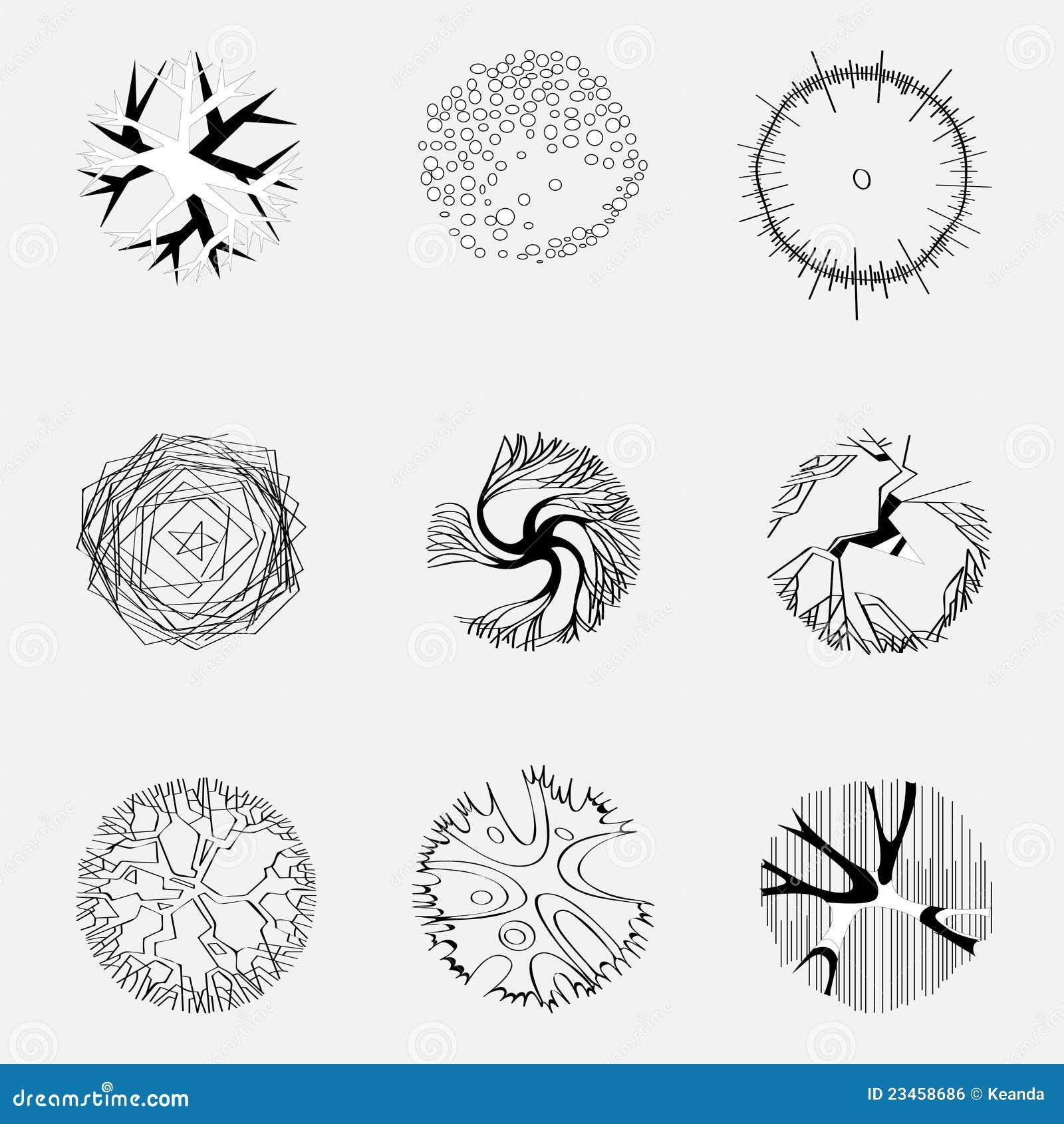 Immagine degli alberi sul programma immagine stock libera for Programma architettura gratis