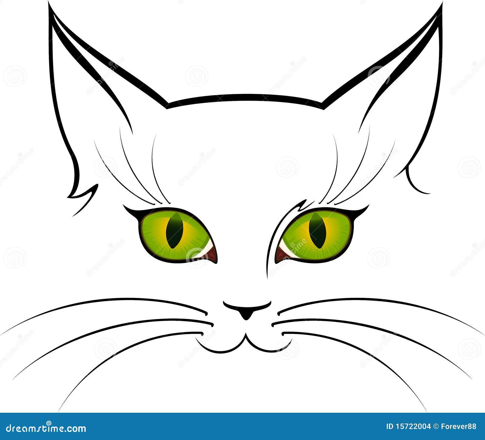 Immagine Degli Occhi Di Gatto Illustrazione Vettoriale