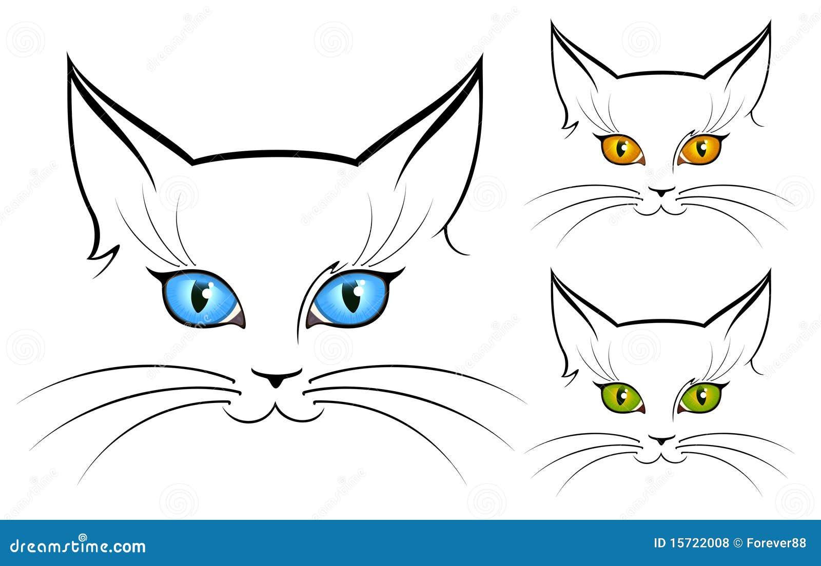 Immagine degli occhi di gatto fotografie stock libere da for Disegno gatto facile