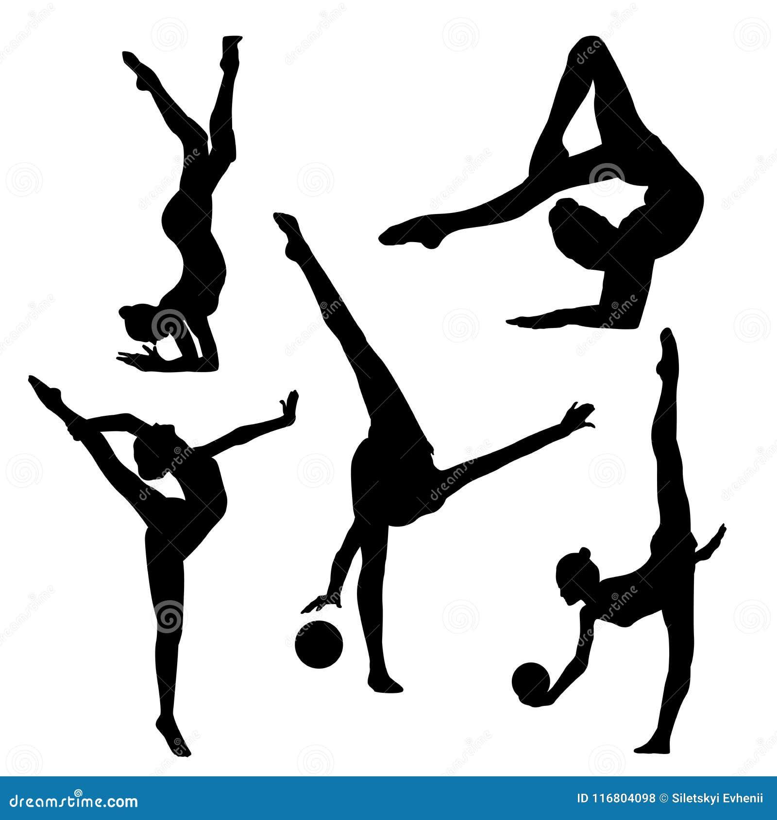 Immagine del quadro televisivo di una ragazza della ginnasta con una palla