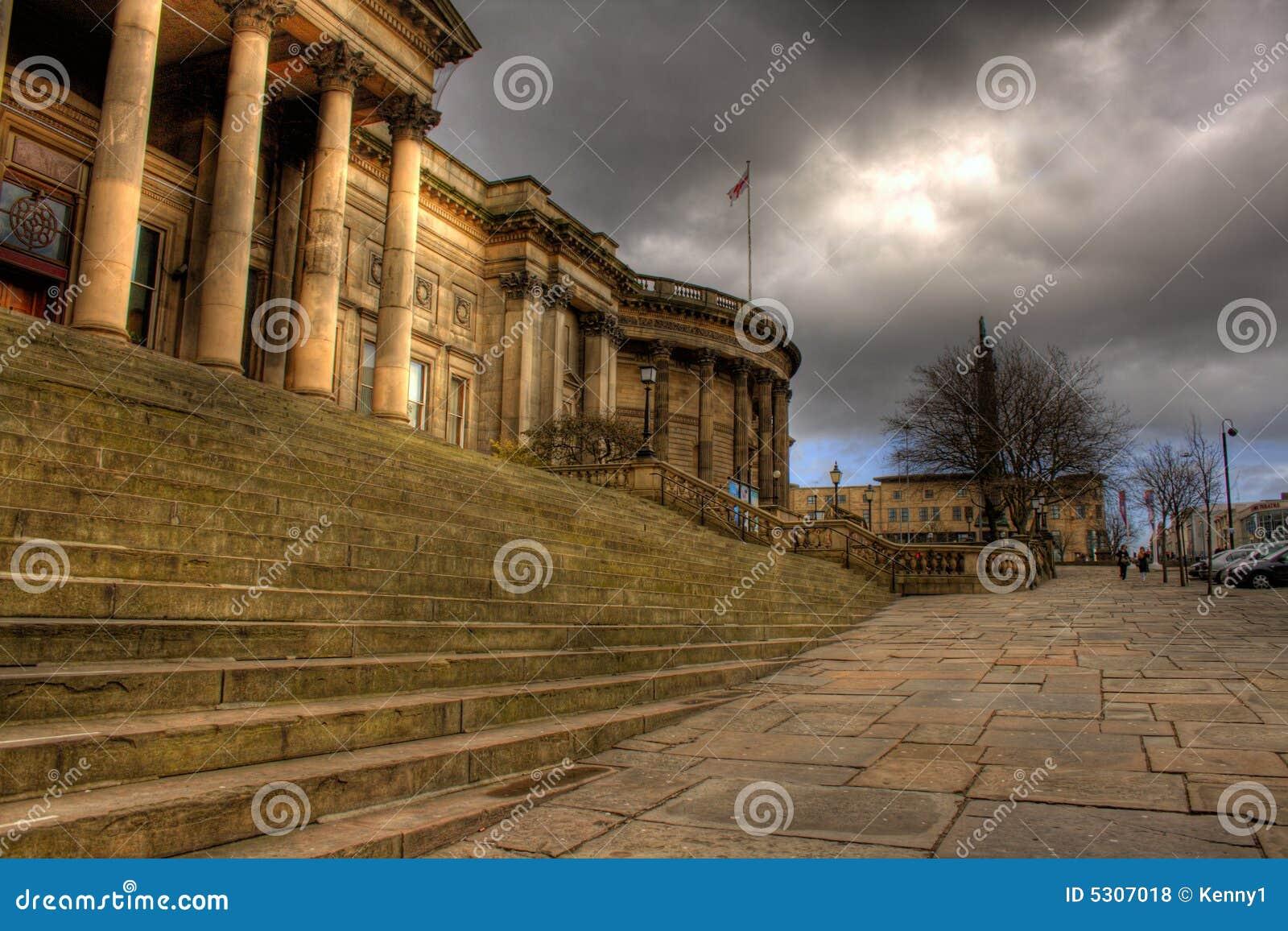 Download Immagine Di HDR Della Libreria Centrale Di Liverpool Fotografia Stock - Immagine di sala, governo: 5307018