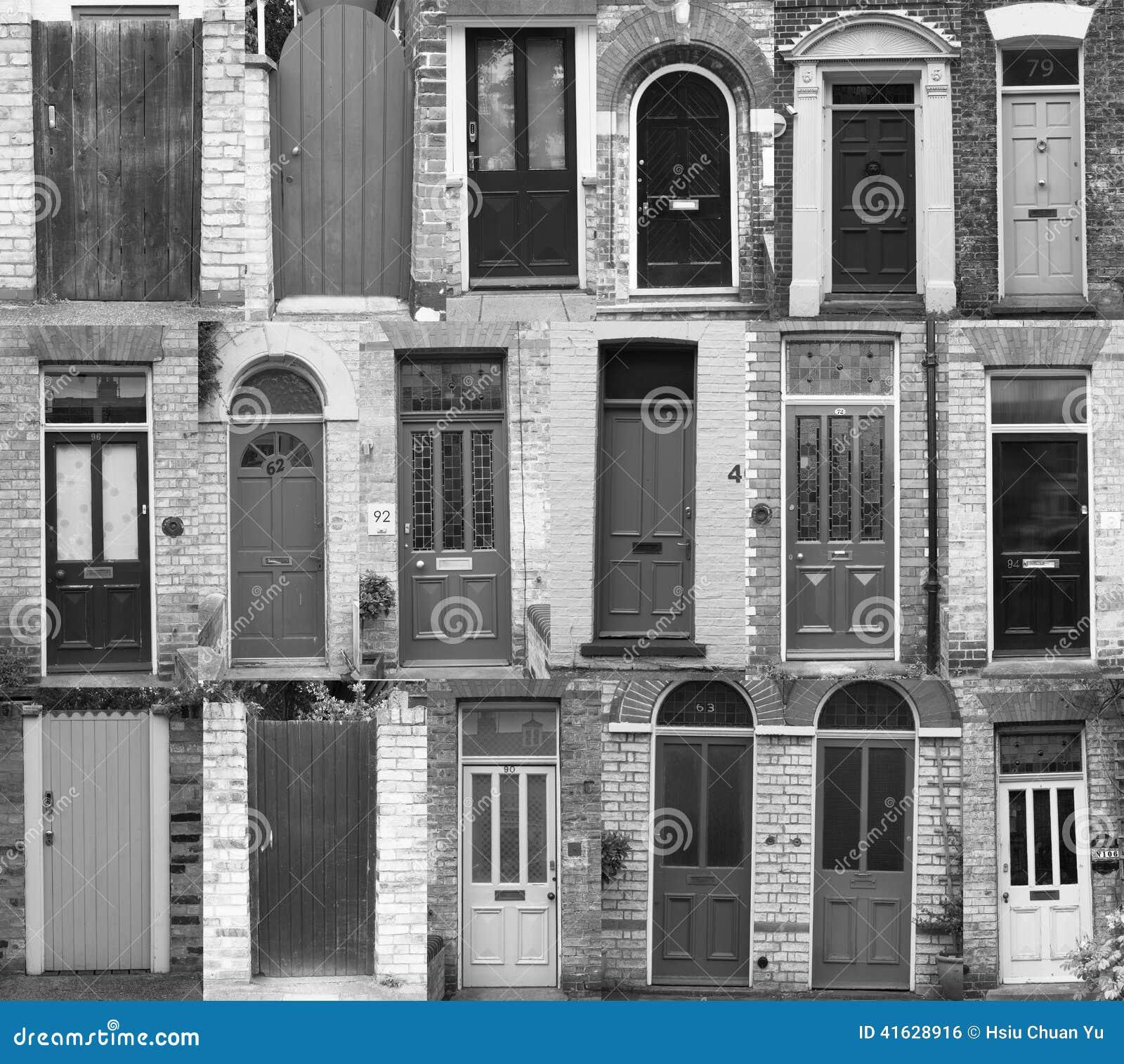 Immagine di sfondo delle porte nel tono bianco nero