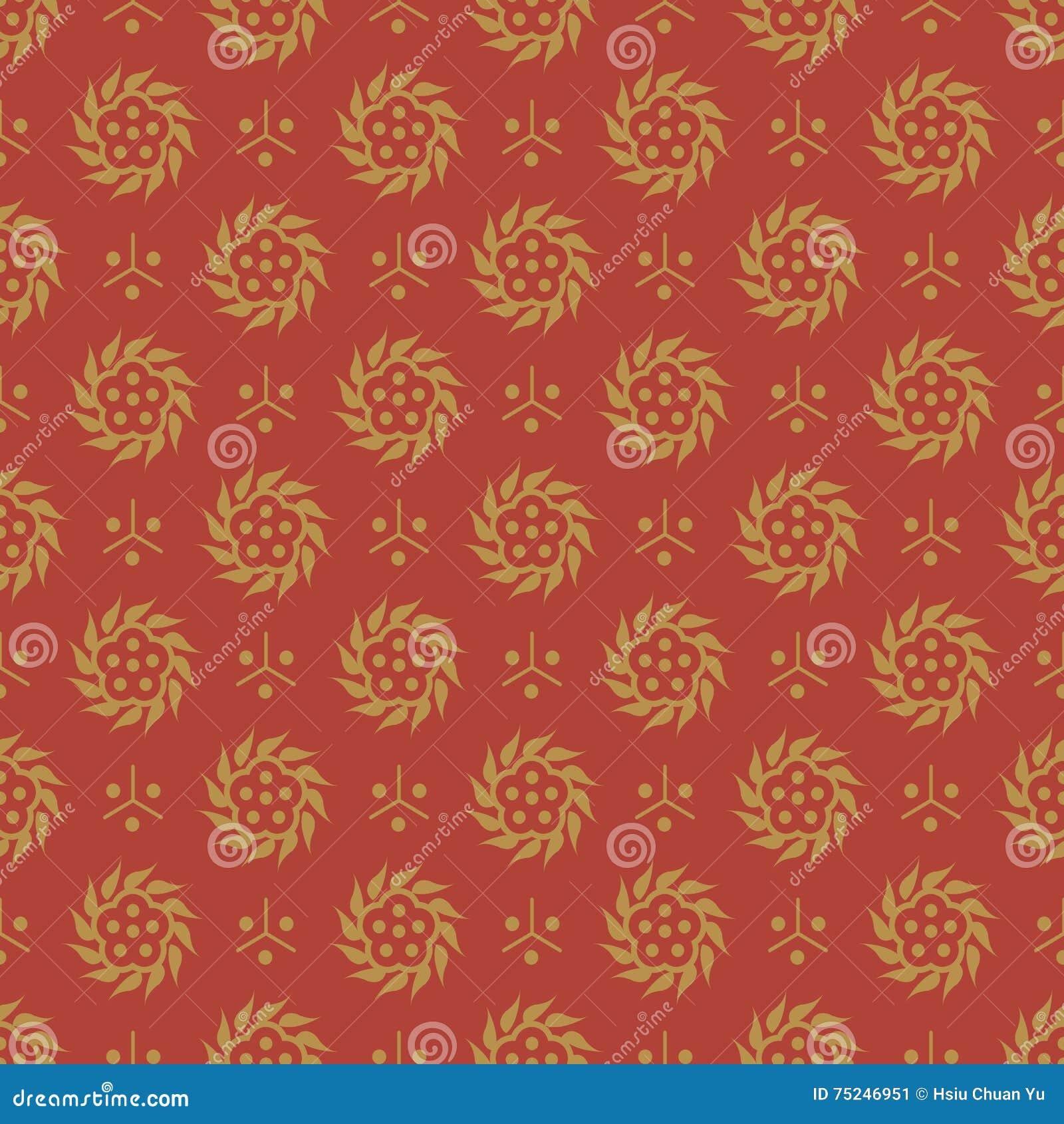 Immagine Di Sfondo Senza Cuciture Antica Del Fiore A Spirale Rotondo