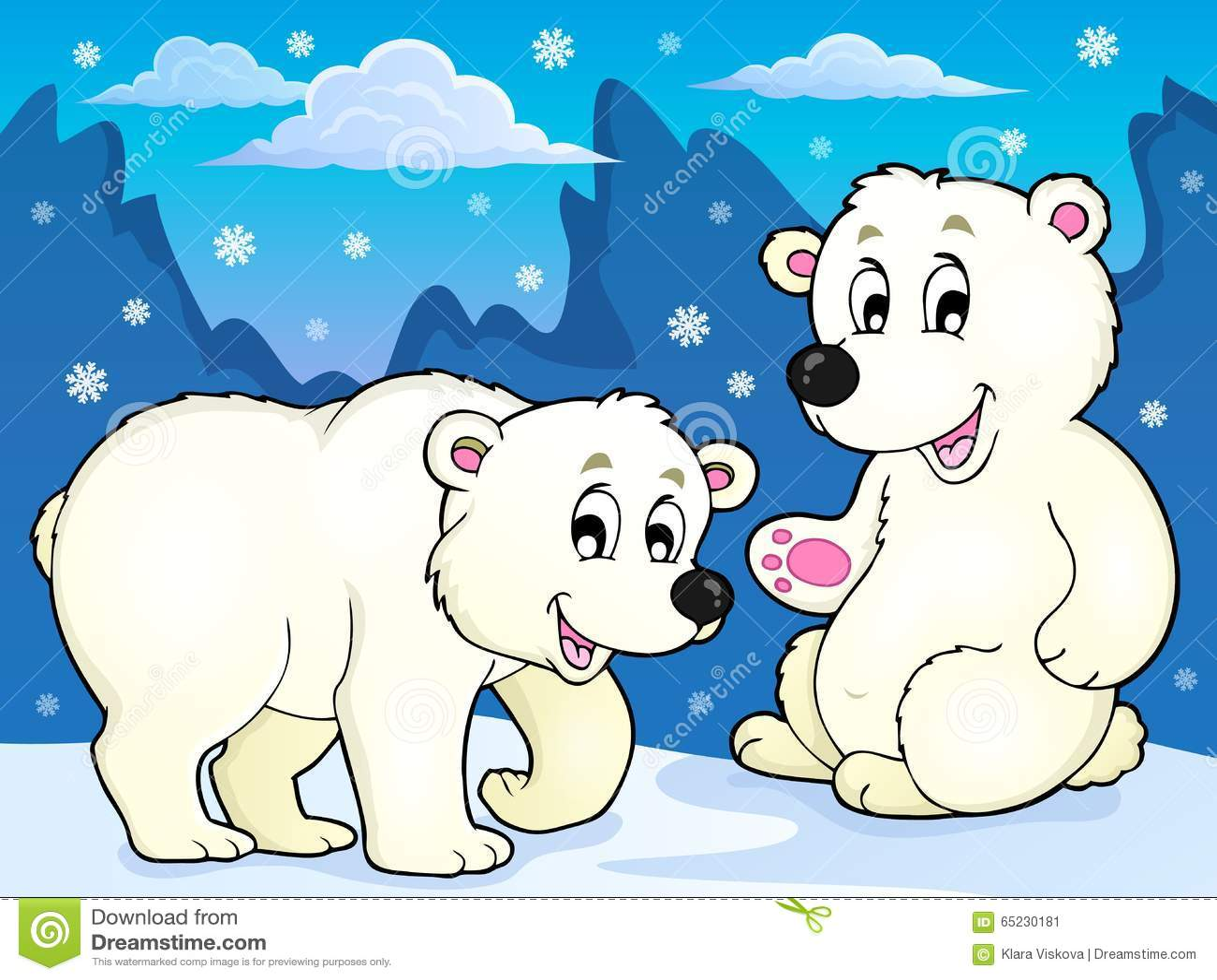 Immagine 1 di tema degli orsi polari
