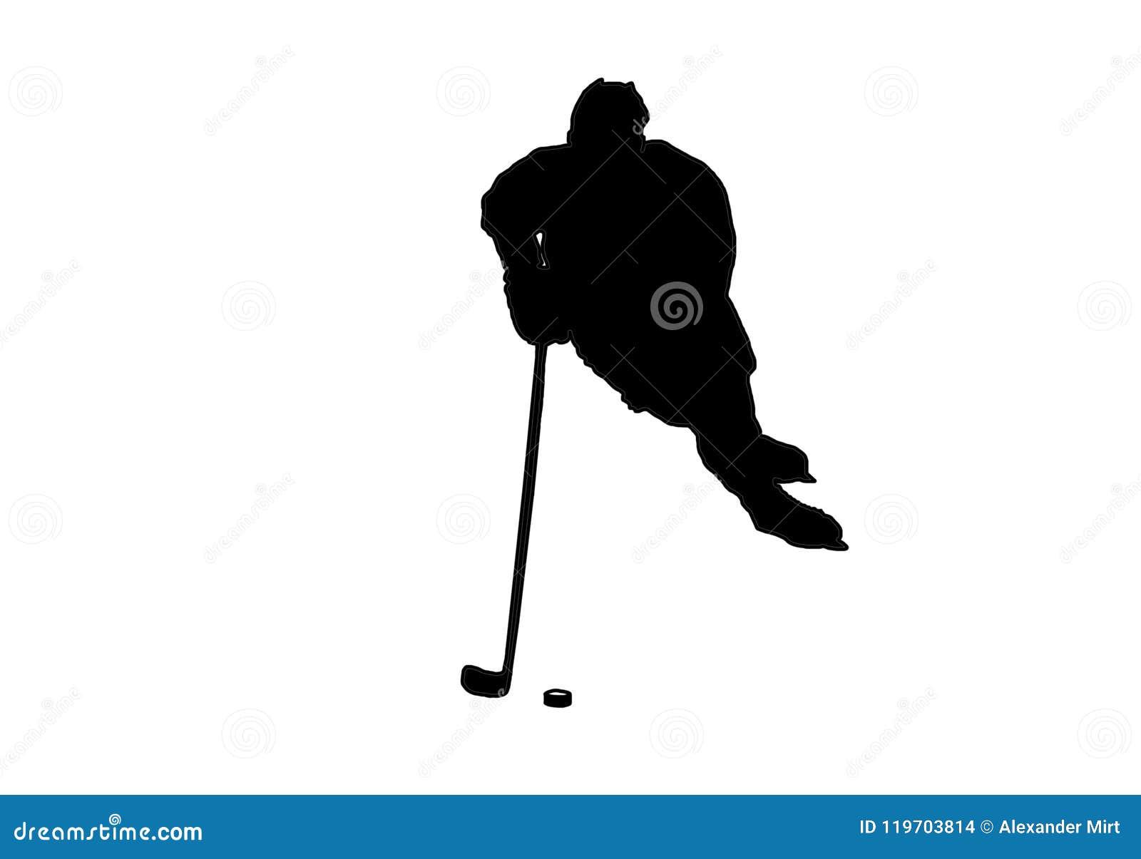 Immagine di vettore del giocatore di hockey su ghiaccio