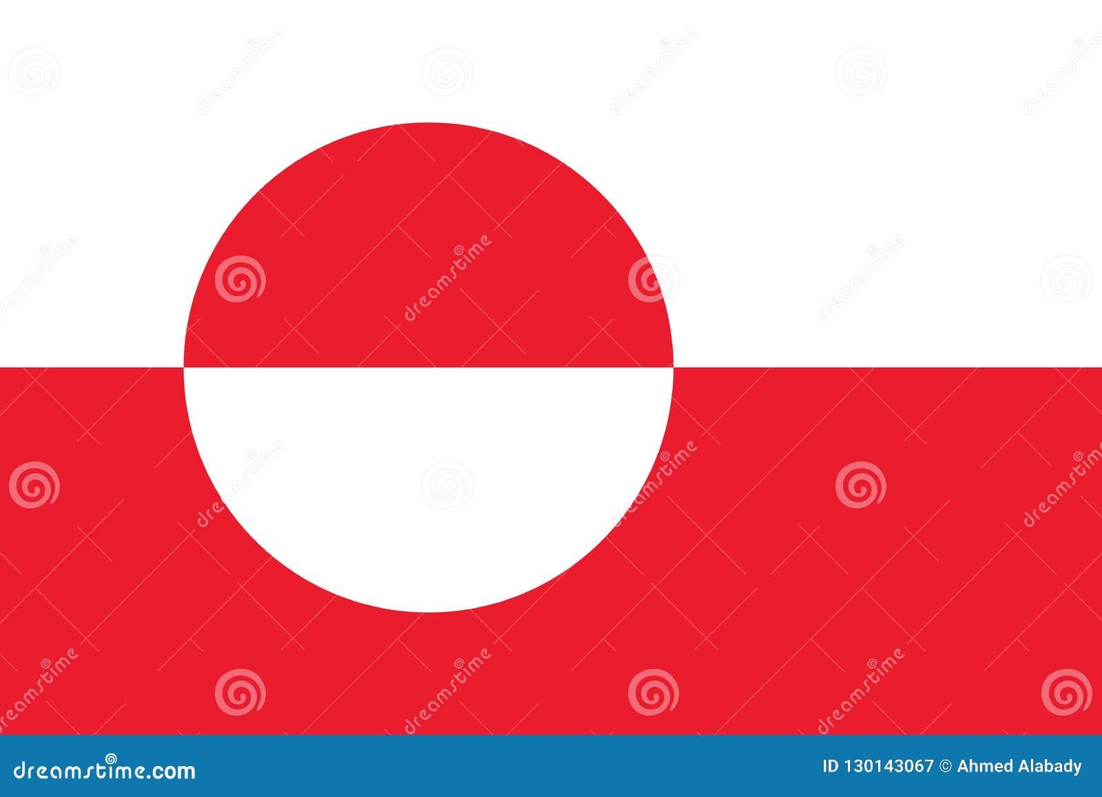 Immagine di vettore della bandiera della Groenlandia