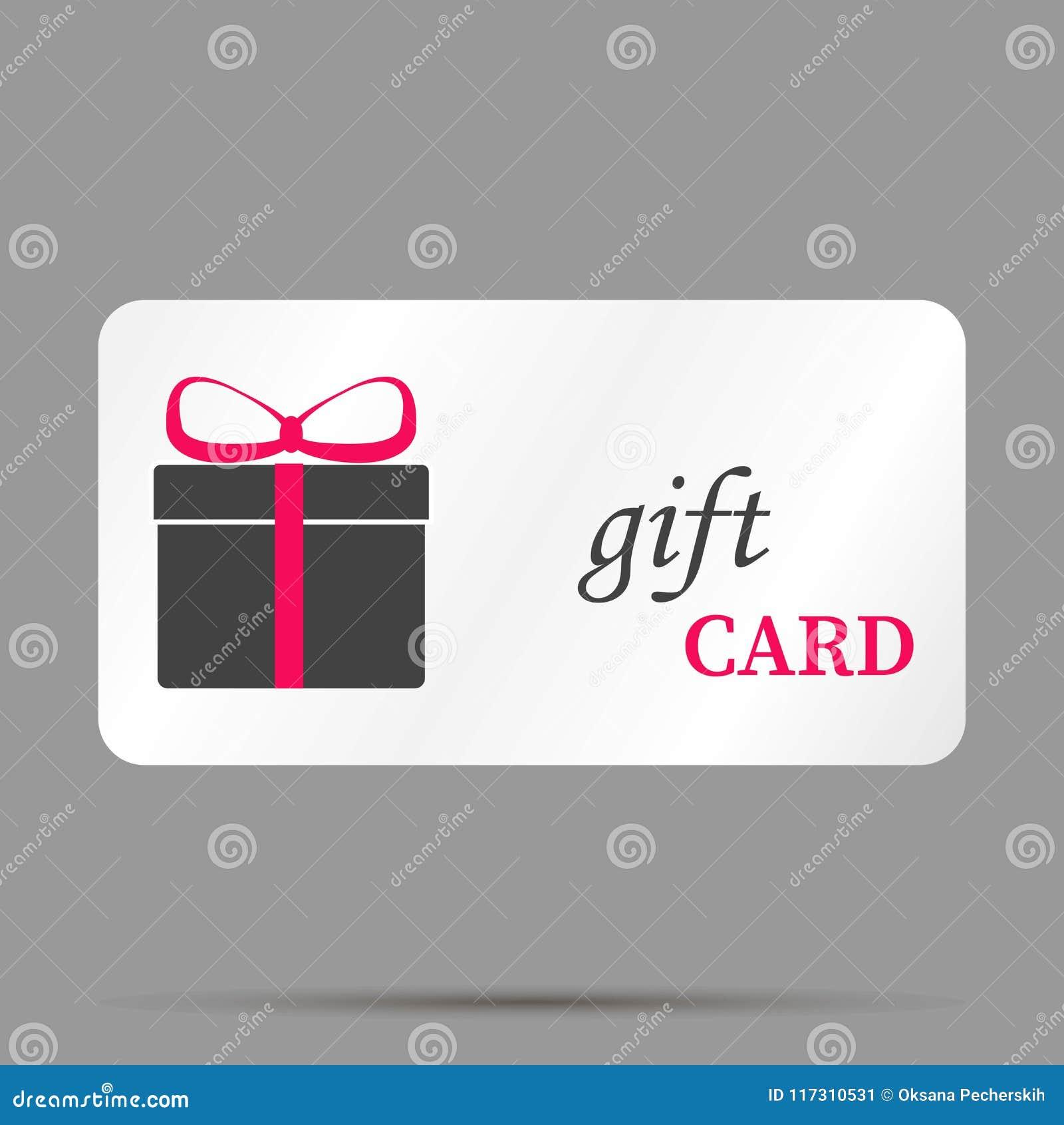 Immagine di vettore della carta di regalo Un deposito della carta di regalo Strati raggruppati per l ea