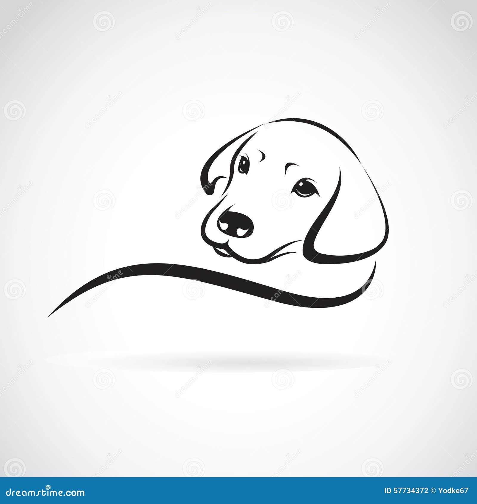 Line Art Dog Tattoo : Immagine di vettore un cane labrador illustrazione