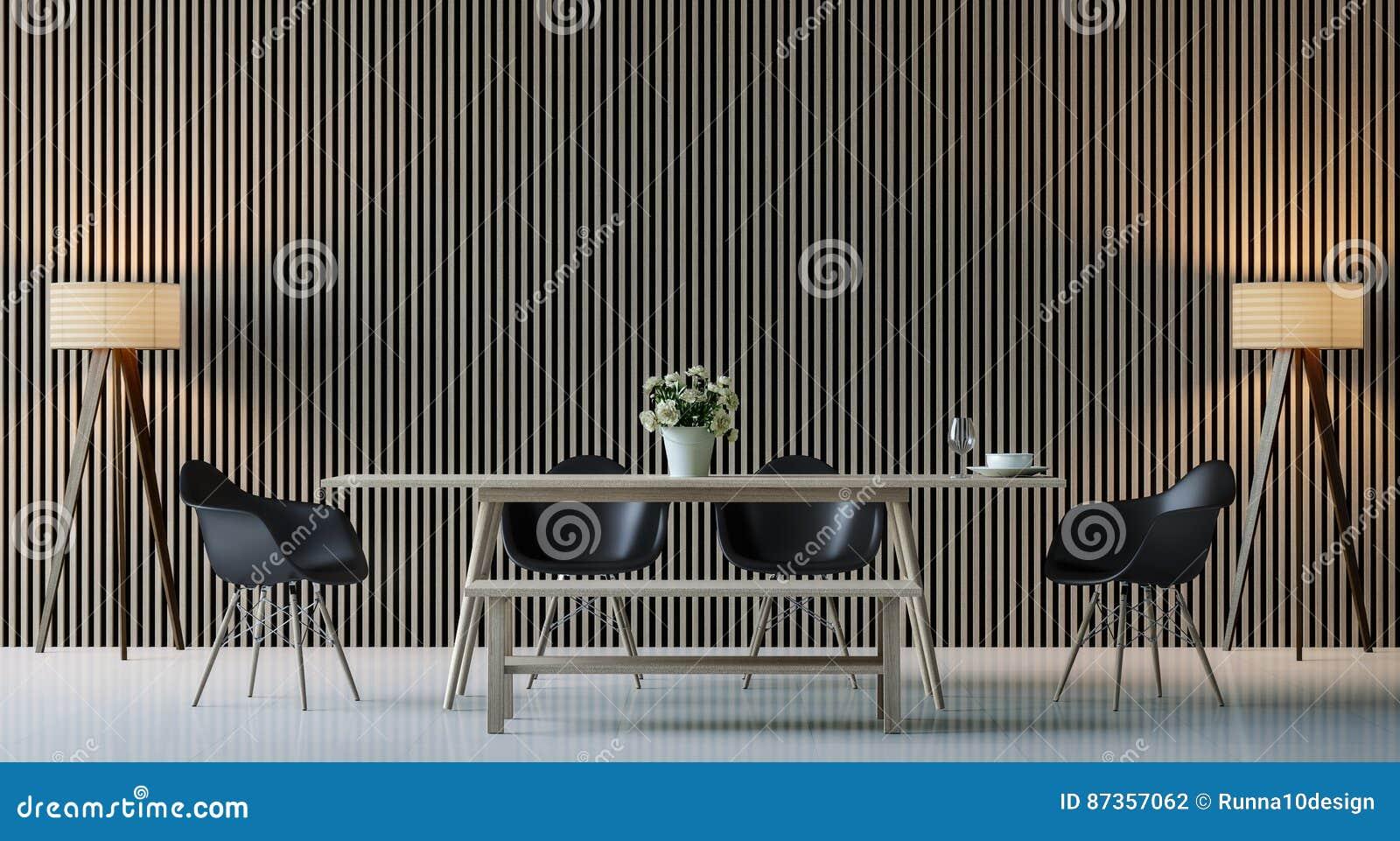 Sala Da Pranzo Contemporanea : Immagine interna della rappresentazione d della sala da pranzo