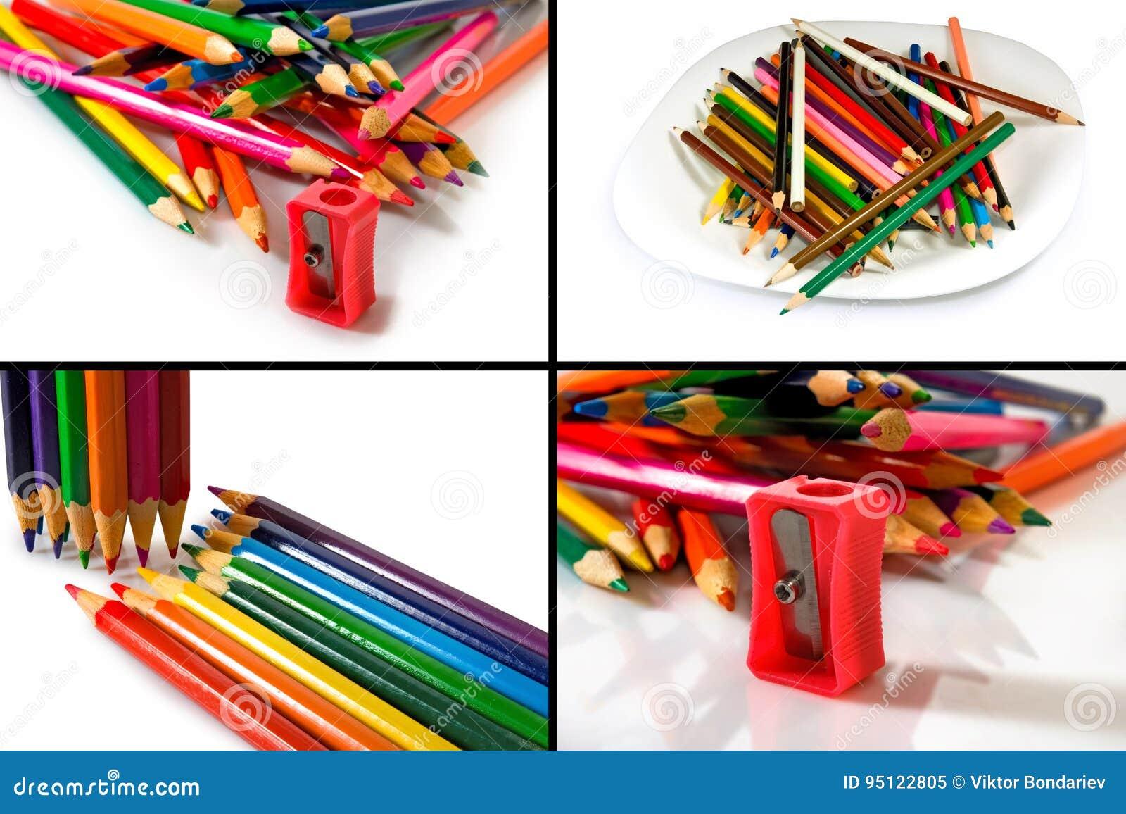 Immagine isolata delle matite variopinte