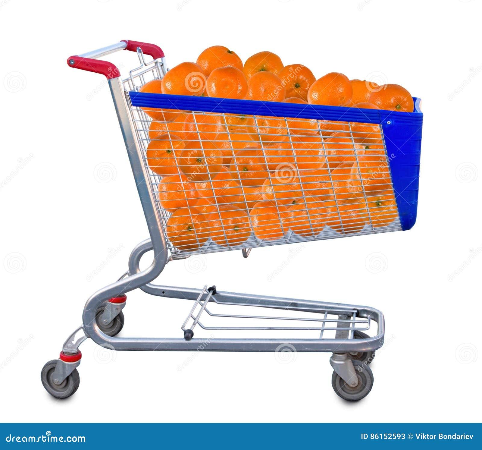 Immagine isolata di molte arance