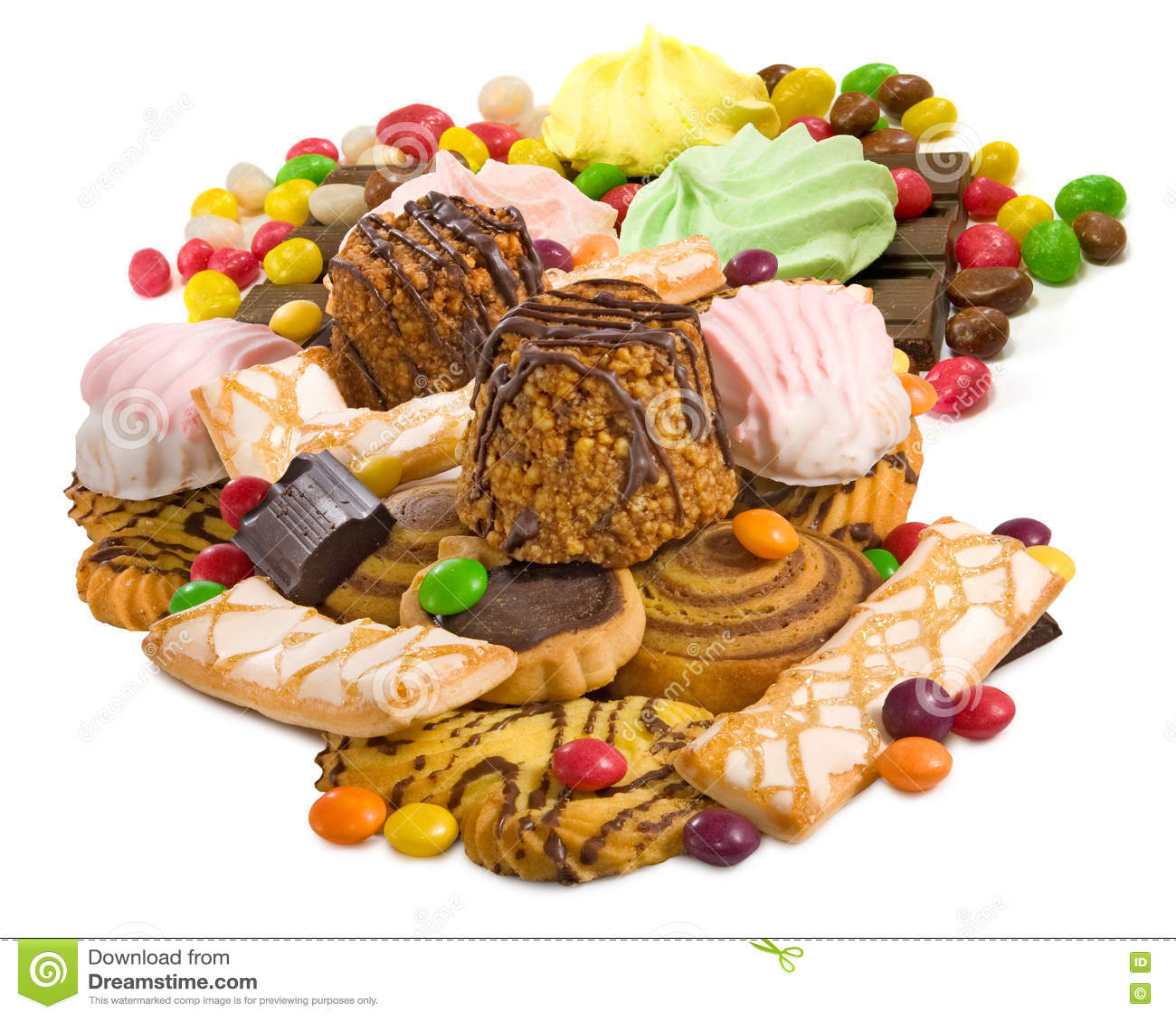 Immagine primo piano delizioso di molti biscotti