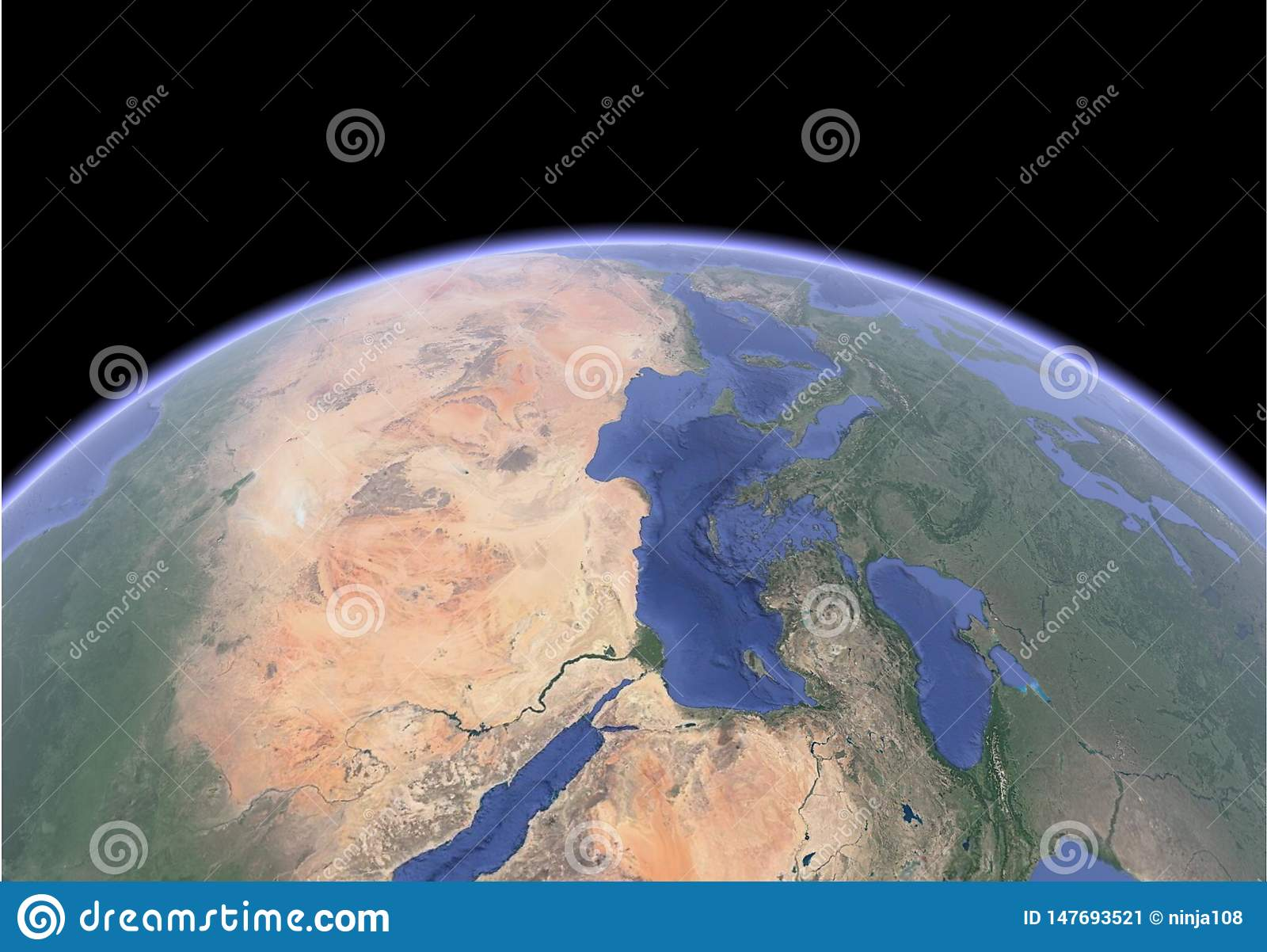 Immagine satellite di terra