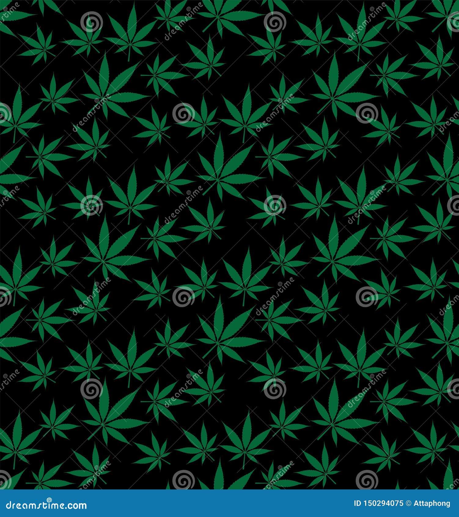 Immagine senza cuciture di vettore del modello della cannabis della marijuana