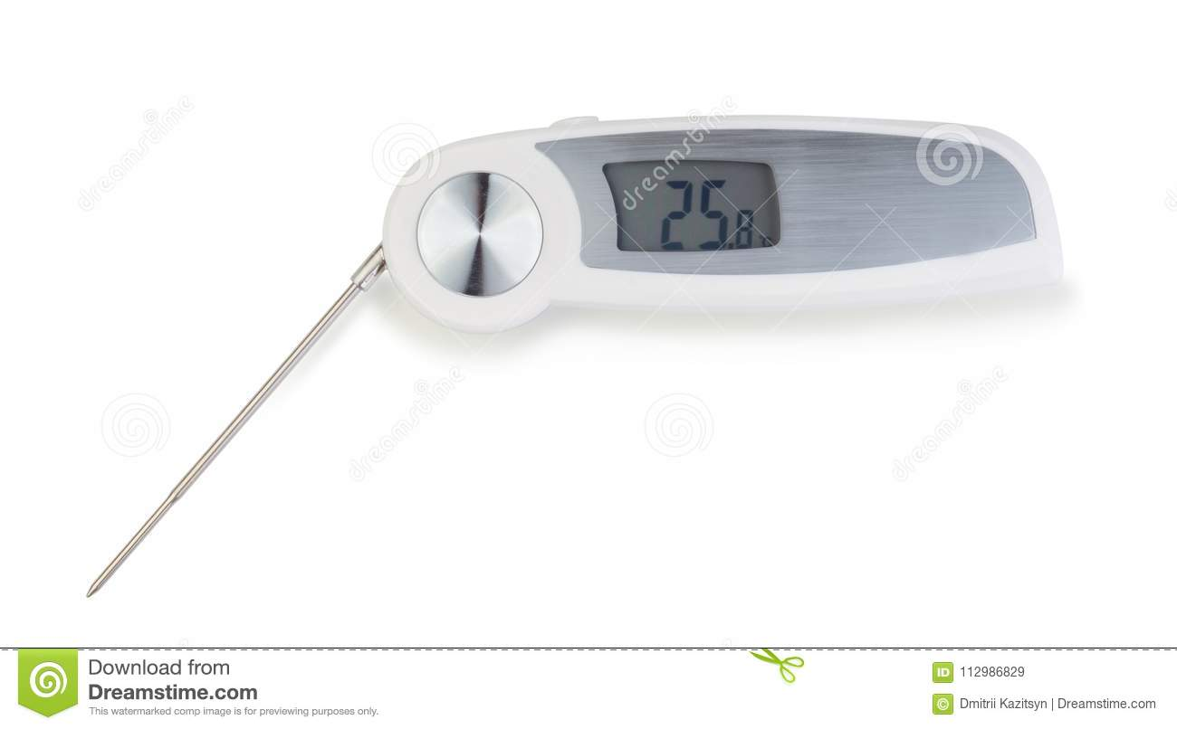 Immersion thermometer isolated