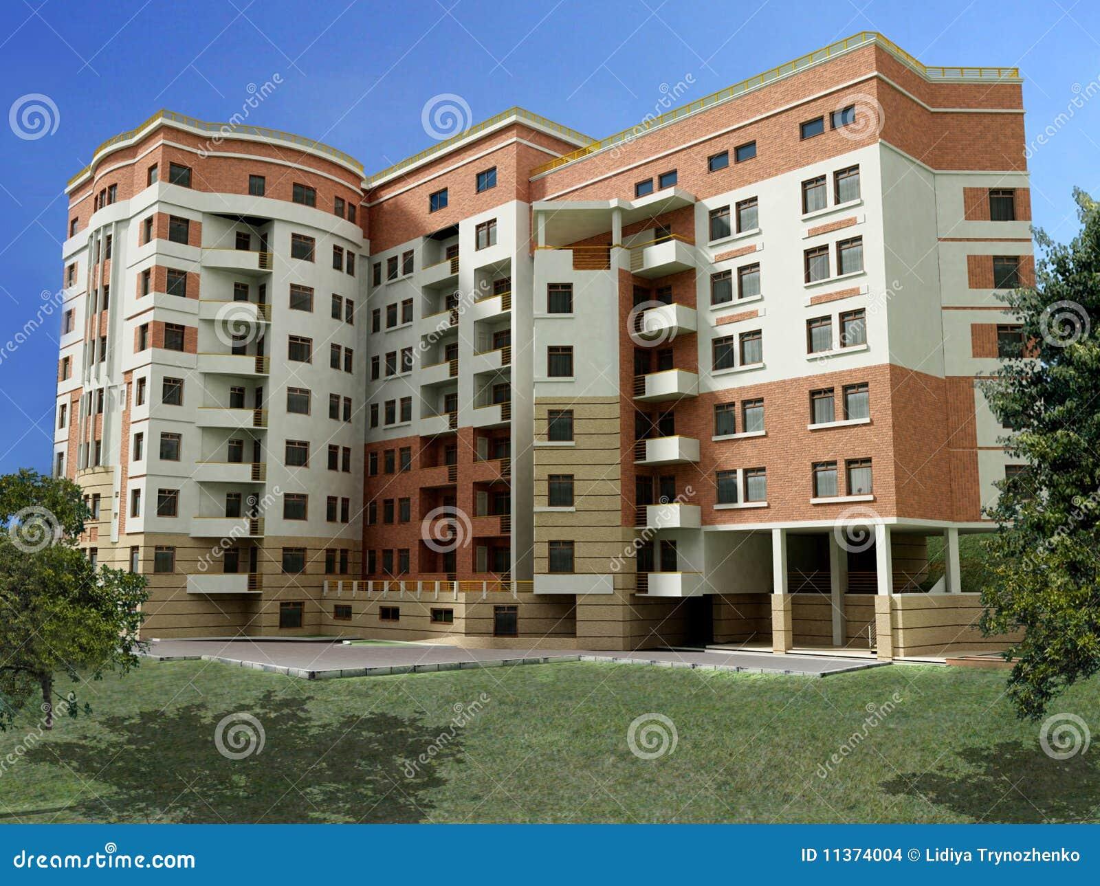 Immeuble 3d images stock image 11374004 for Immeuble bureau moderne