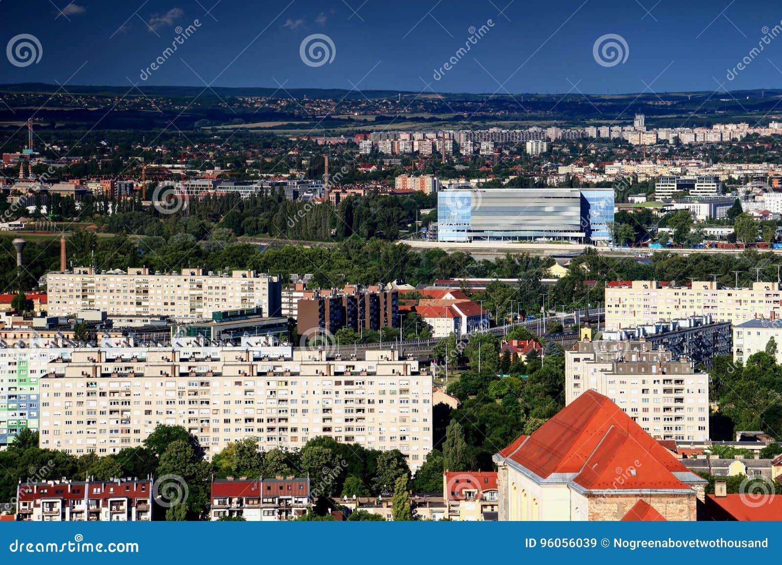 Immeuble de Budapest avec le lieu de rendez-vous pour FINA Championships 2017