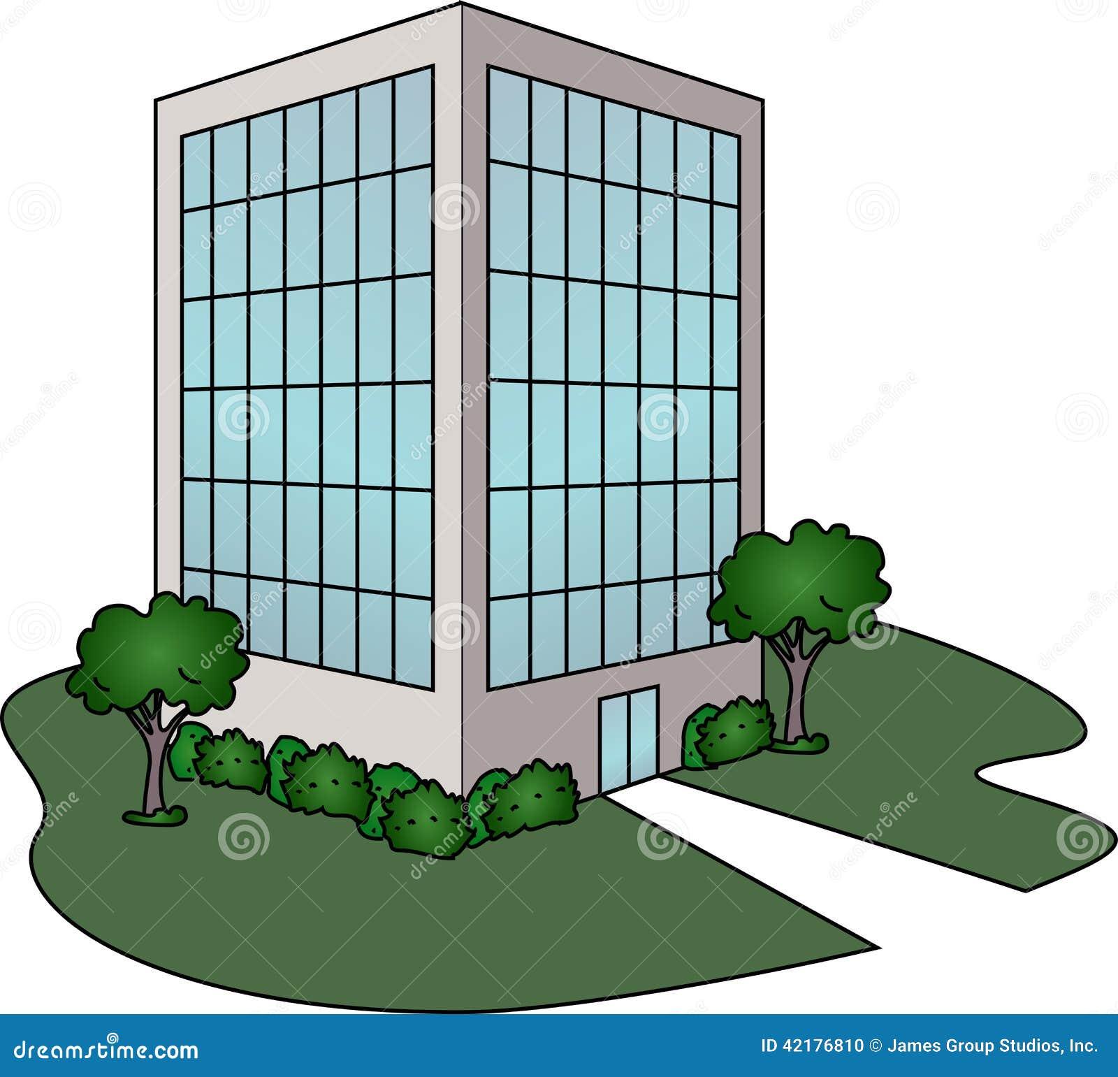 Immeuble de bureaux illustration de vecteur image du for Immeuble bureau moderne