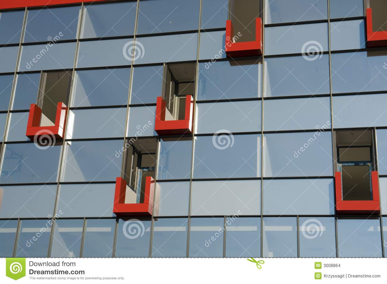 Immeuble de bureaux contemporain photo stock image du for Facade immeuble contemporain