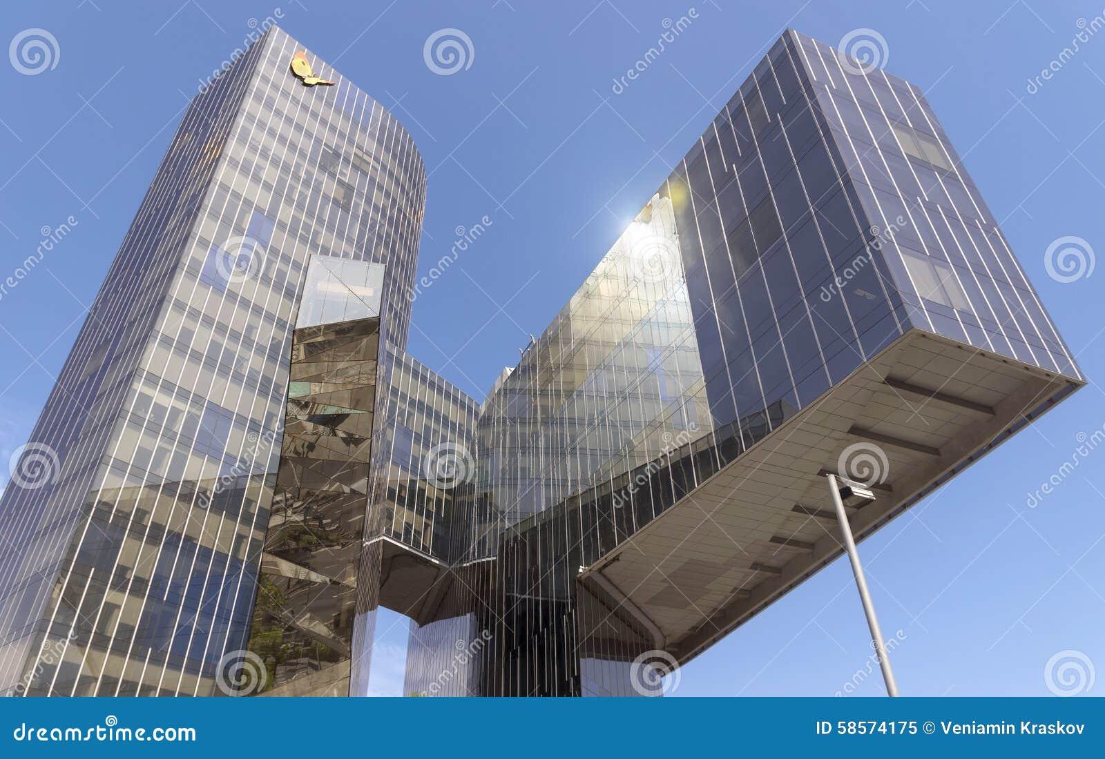 Immeuble de bureaux de fenosa de gas natural image éditorial