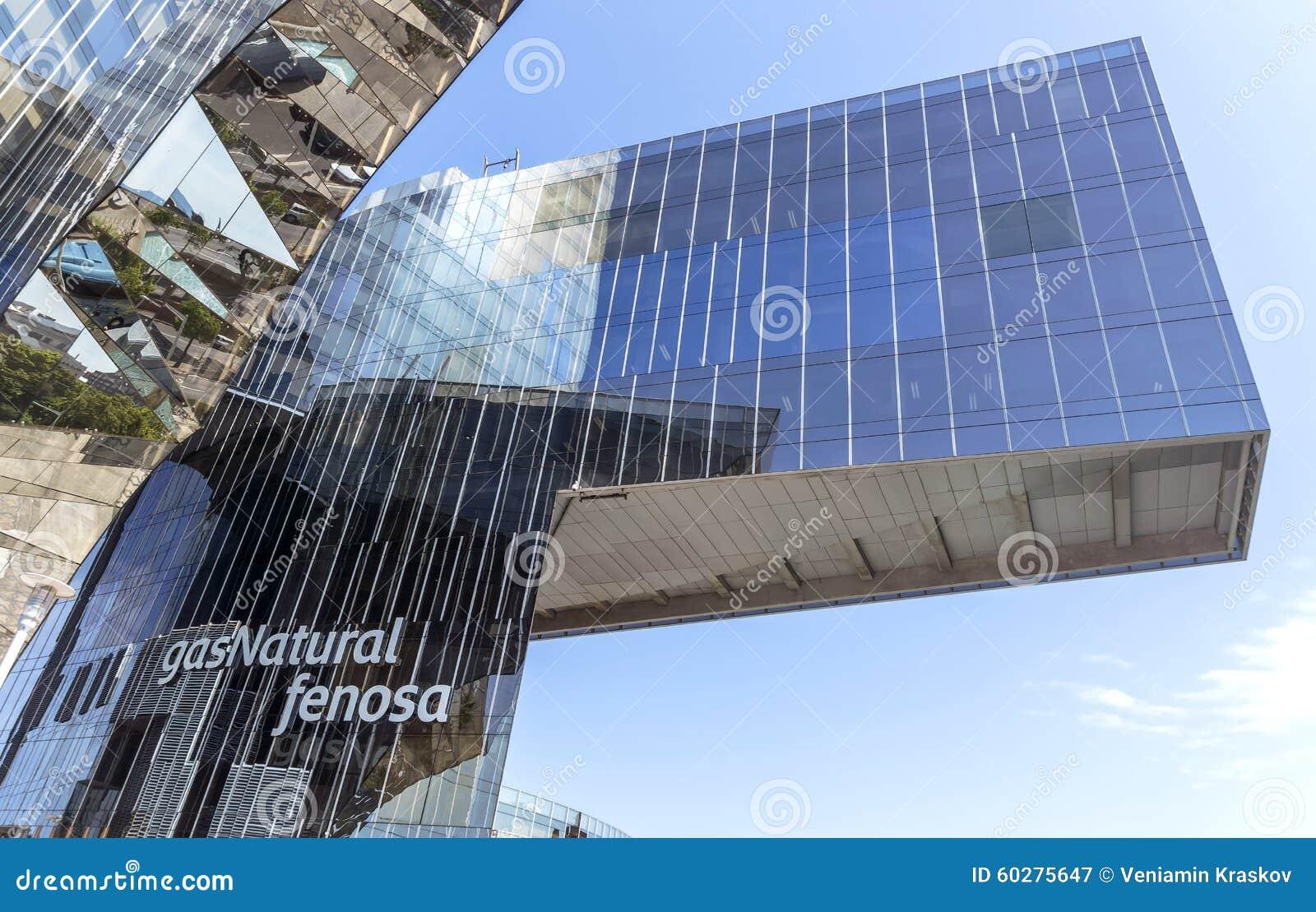 Immeuble de bureaux de fenosa de gas natural photographie